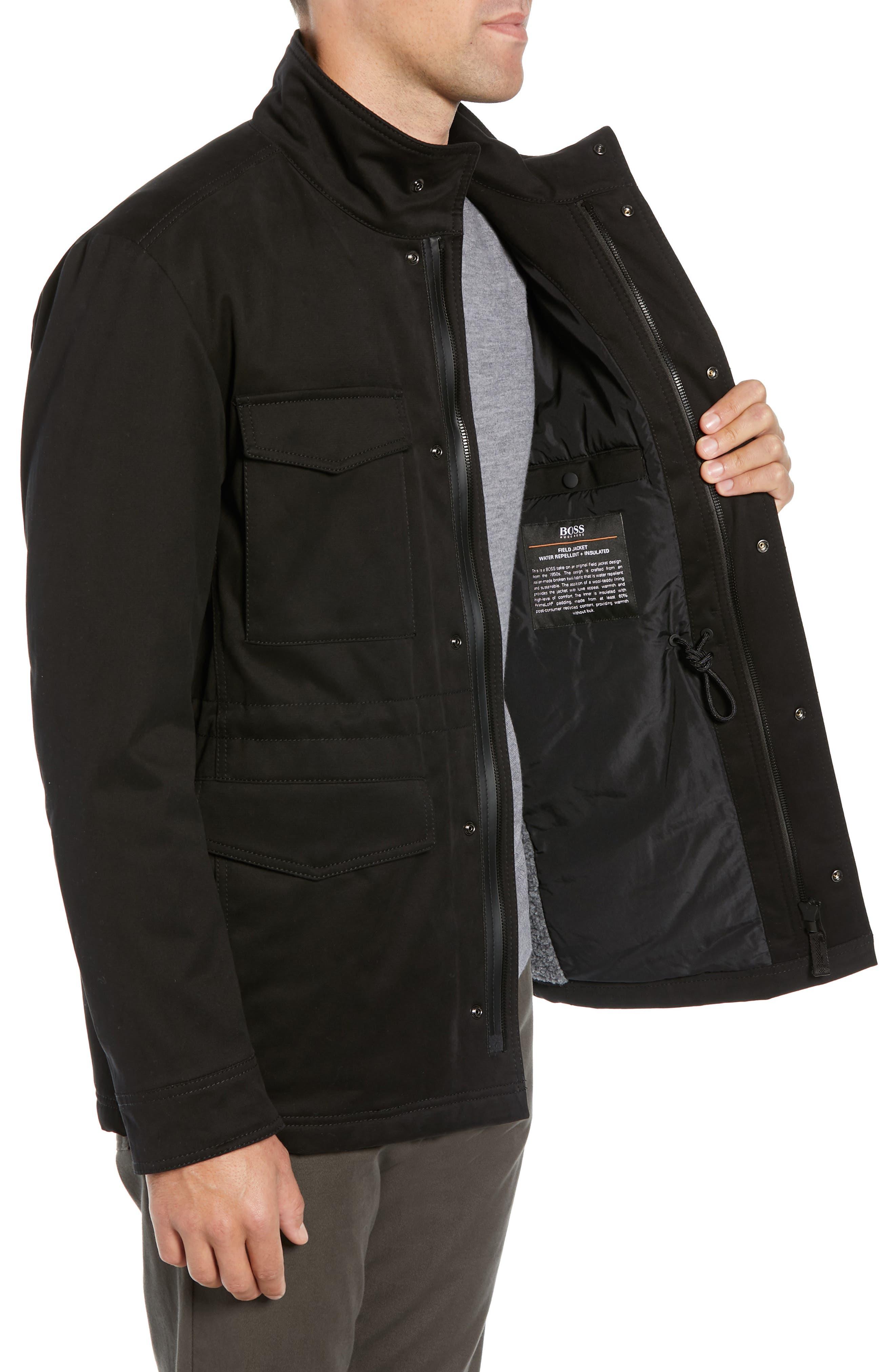 Oroy Regular Fit Field Jacket,                             Alternate thumbnail 3, color,                             BLACK