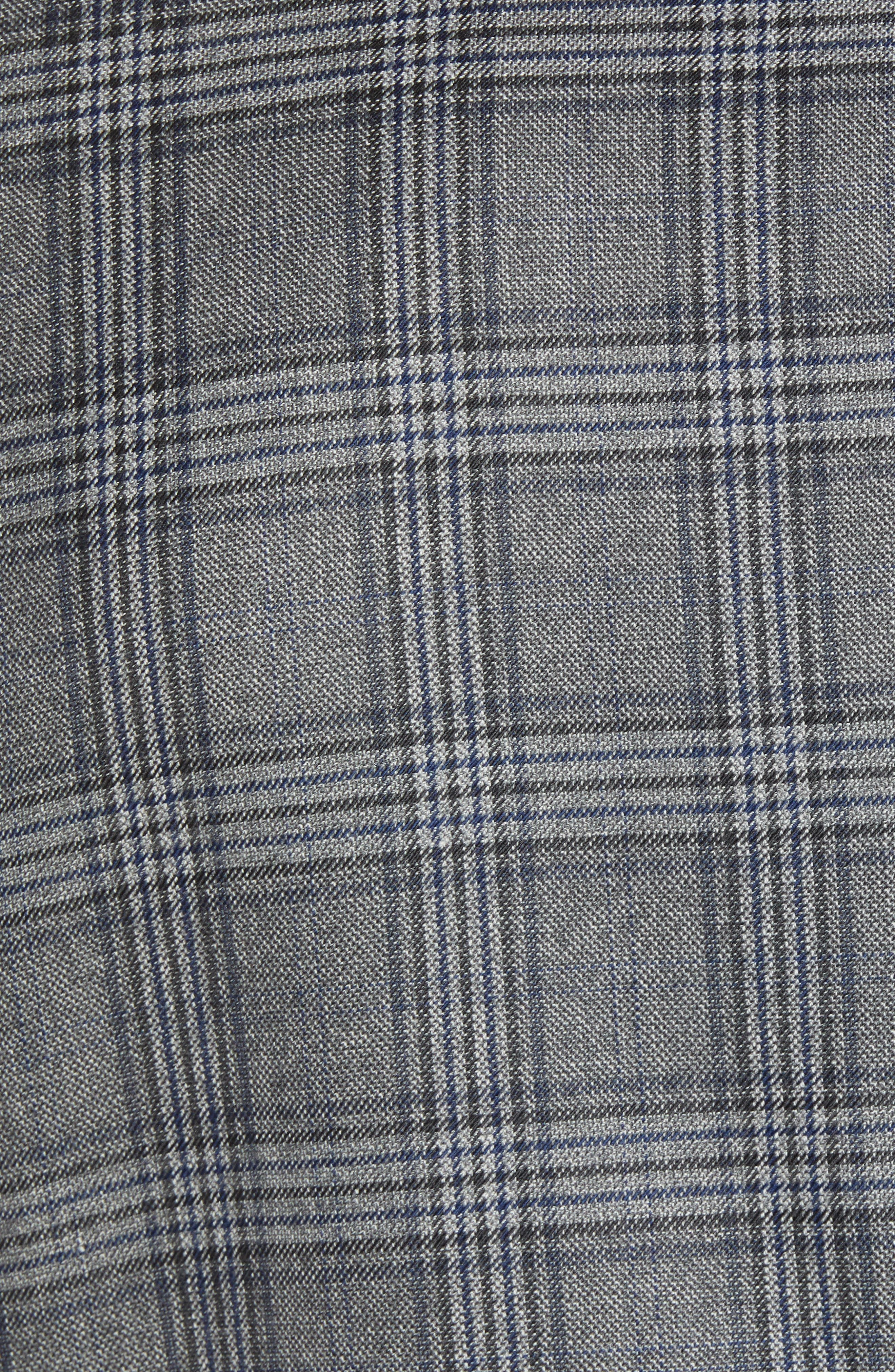 Traditional Fit Plaid Wool Sport Coat,                             Alternate thumbnail 6, color,                             GREY