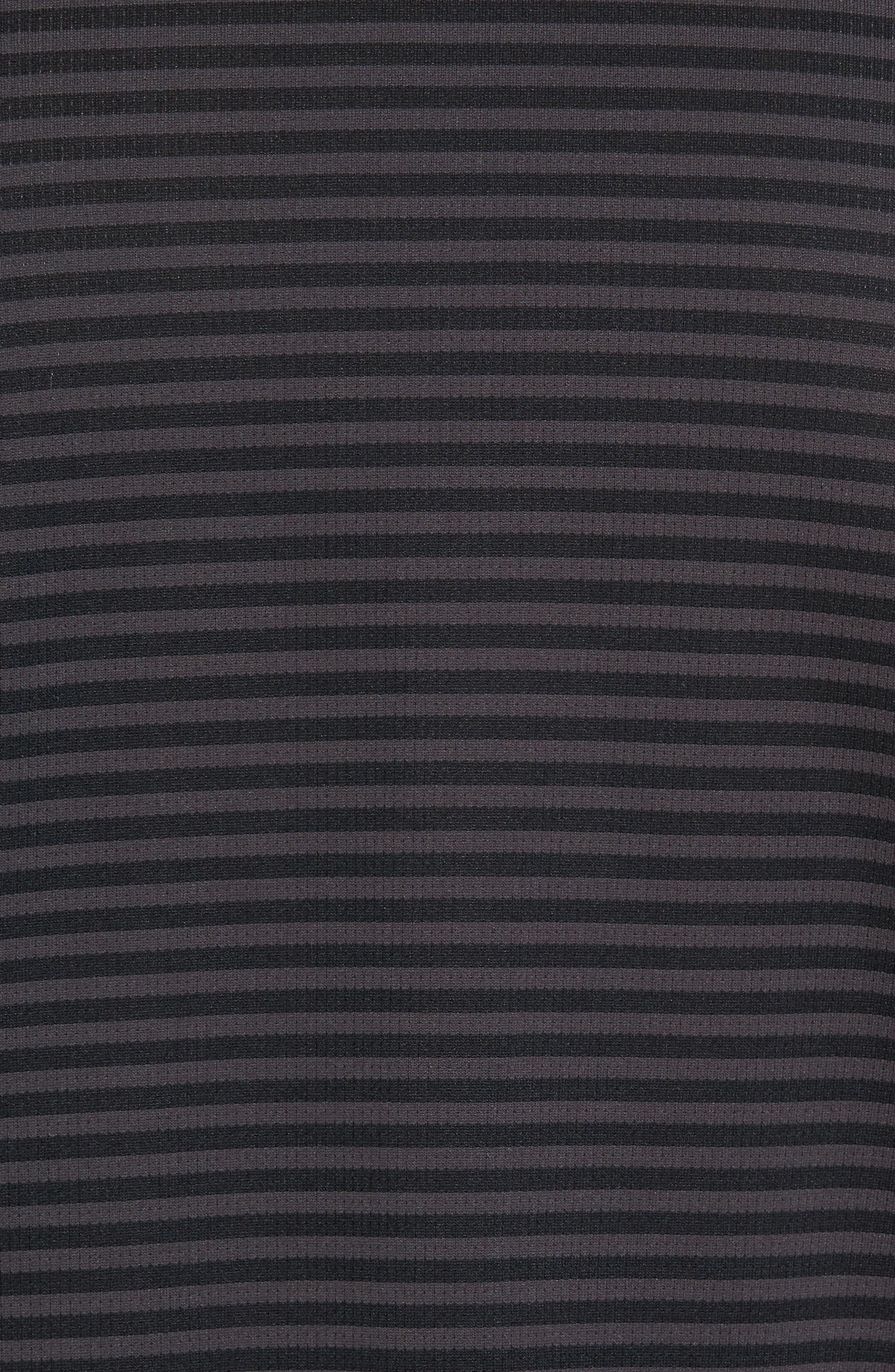 Climachill<sup>®</sup> Stripe Golf Polo,                             Alternate thumbnail 5, color,                             001