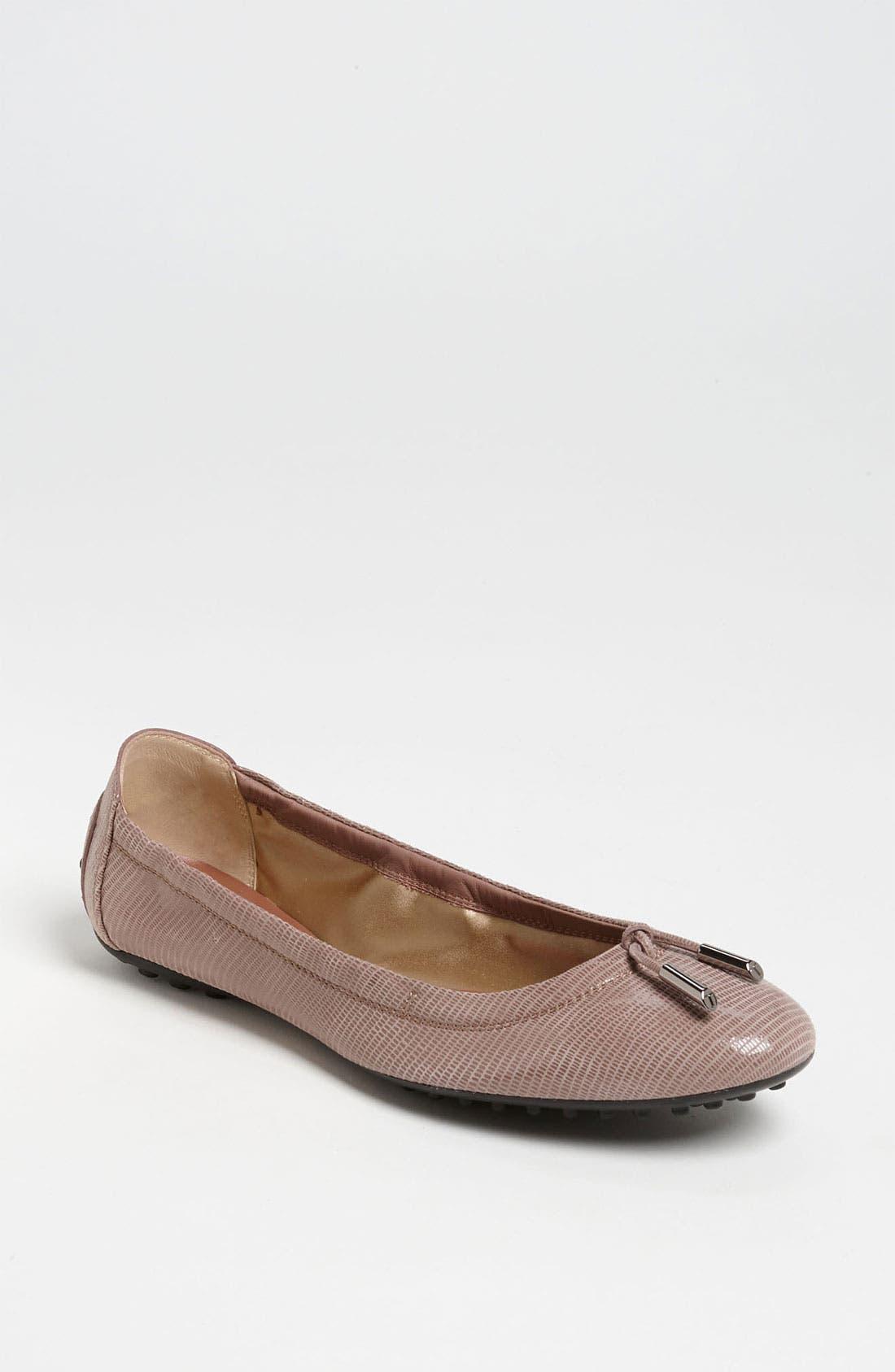 Bow Trim Patent Leather Flat,                             Main thumbnail 2, color,