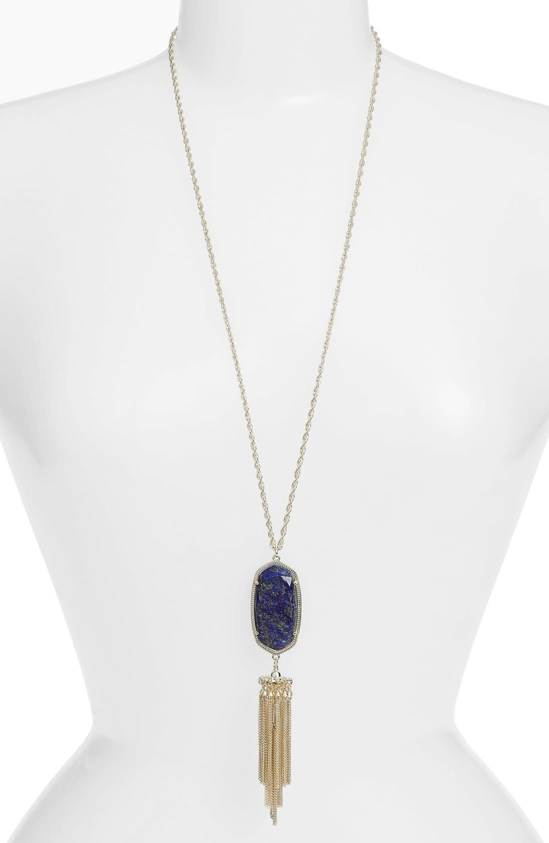 'Rayne' Tassel Pendant Necklace,                             Main thumbnail 9, color,