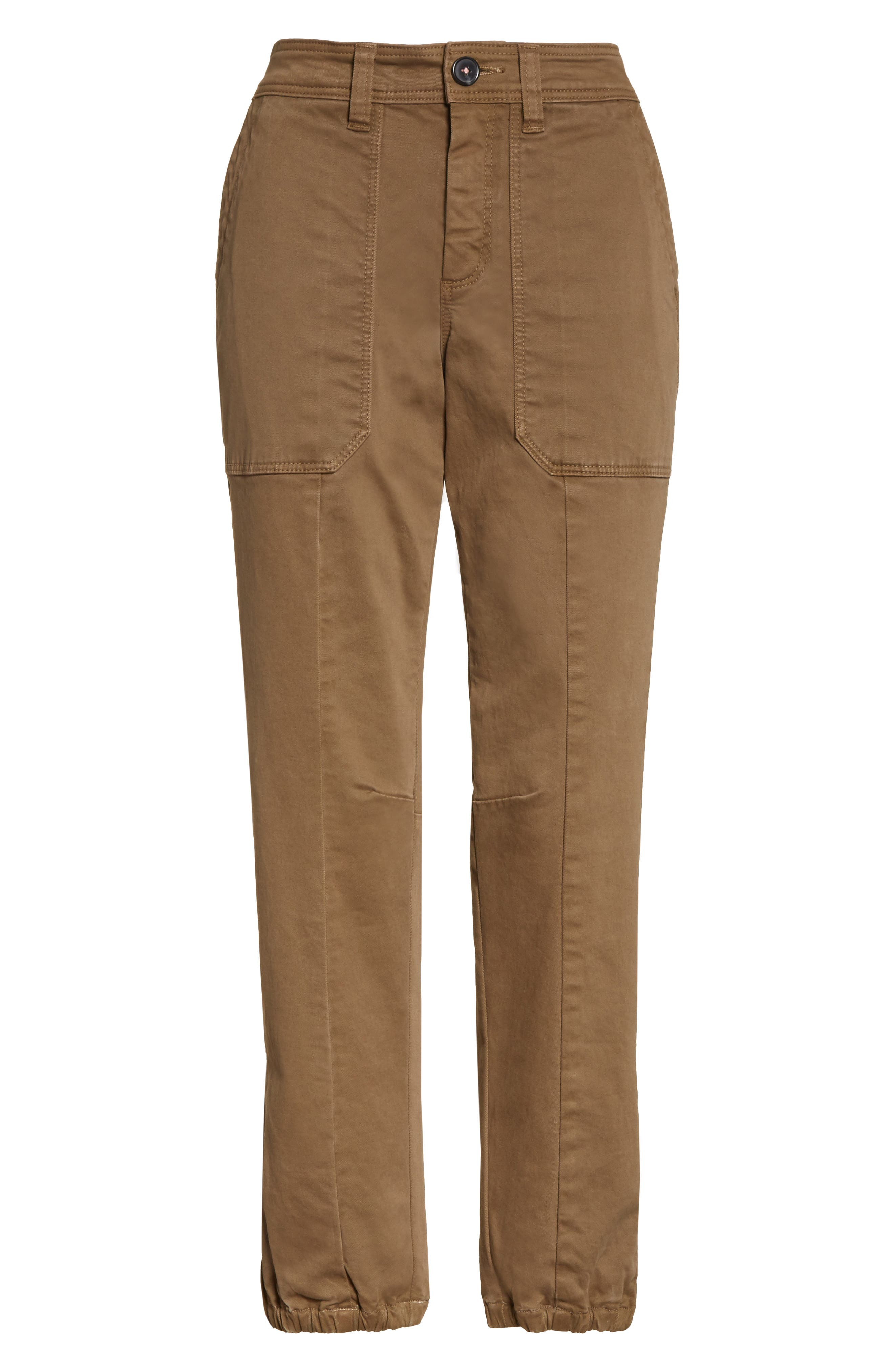 Crop Twill Utility Pants,                             Alternate thumbnail 6, color,                             302