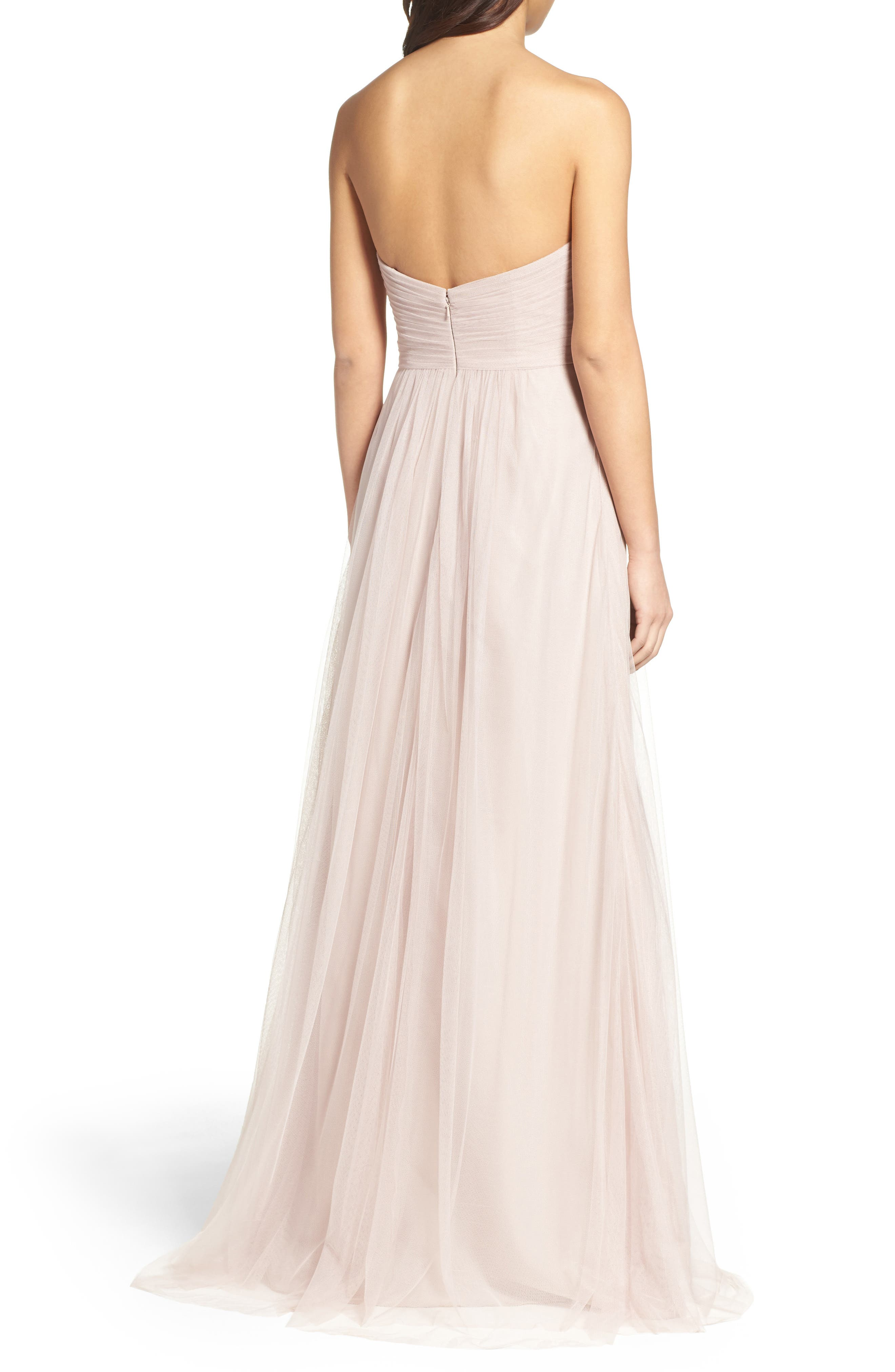 Strapless Tulle Gown,                             Alternate thumbnail 5, color,