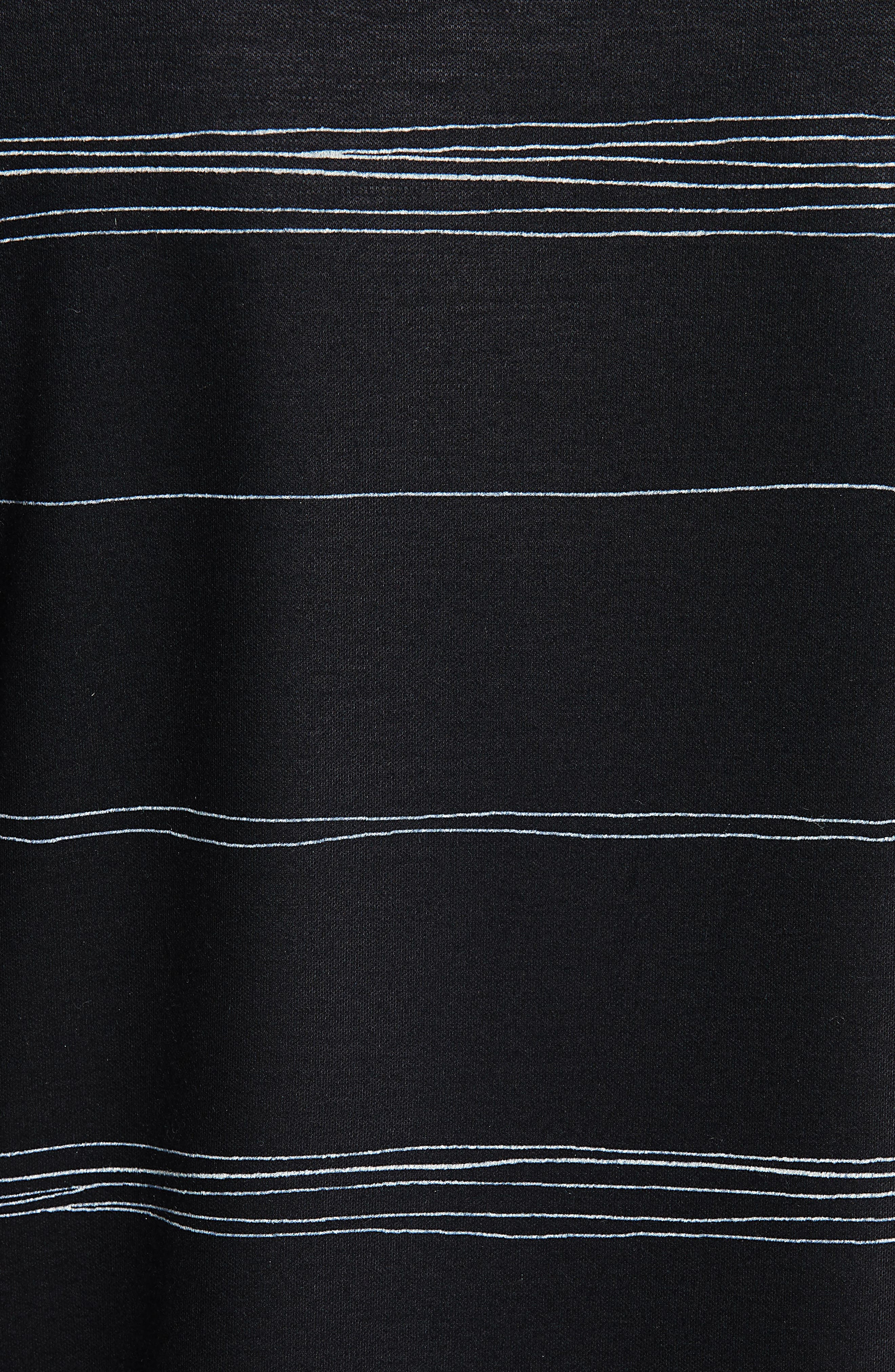 Wavy Stripe Interlock Jersey Tee,                             Alternate thumbnail 5, color,                             CAVIAR MULTI