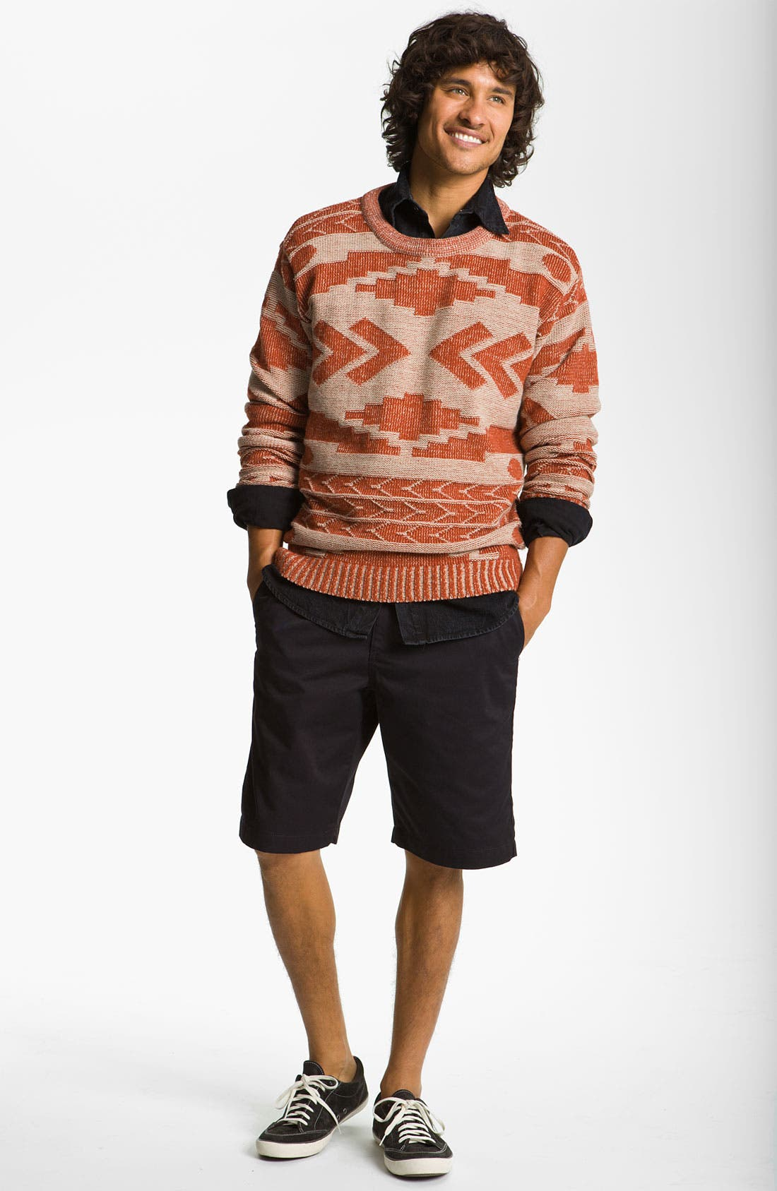 'Geronimo' Pattern Knit Sweater,                             Alternate thumbnail 4, color,                             110