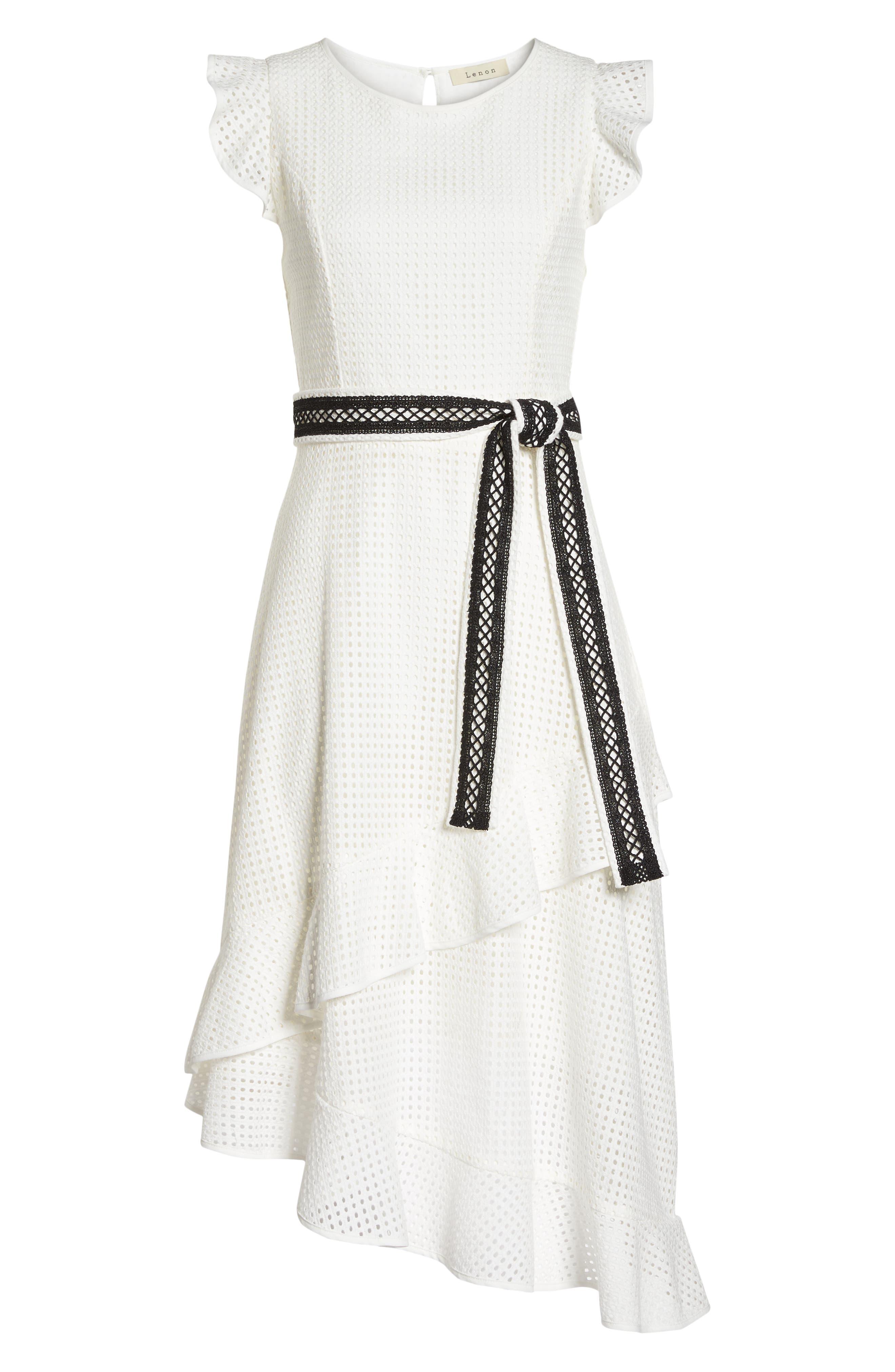 Asymmetrical Hem Dress,                             Alternate thumbnail 7, color,                             100