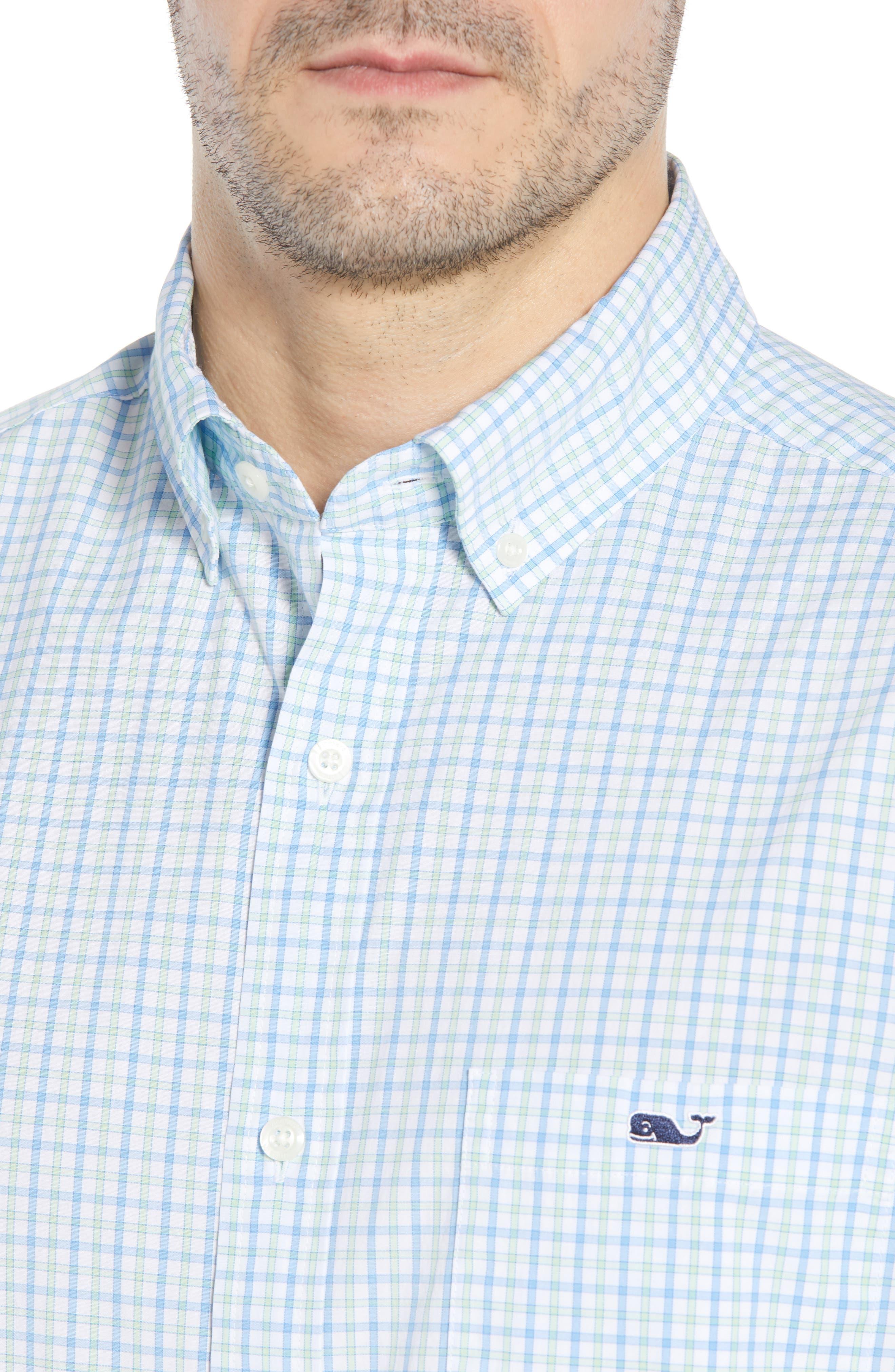 Clark Cove Tucker Classic Fit Check Sport Shirt,                             Alternate thumbnail 4, color,                             305