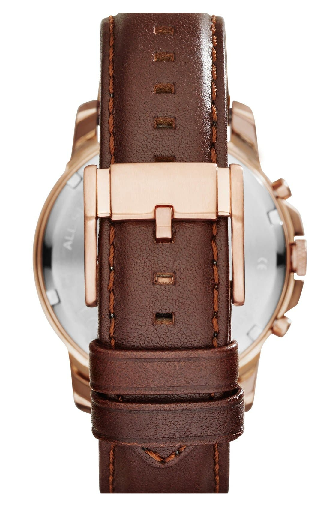 'Grant' Round Chronograph Leather Strap Watch, 44mm,                             Alternate thumbnail 73, color,