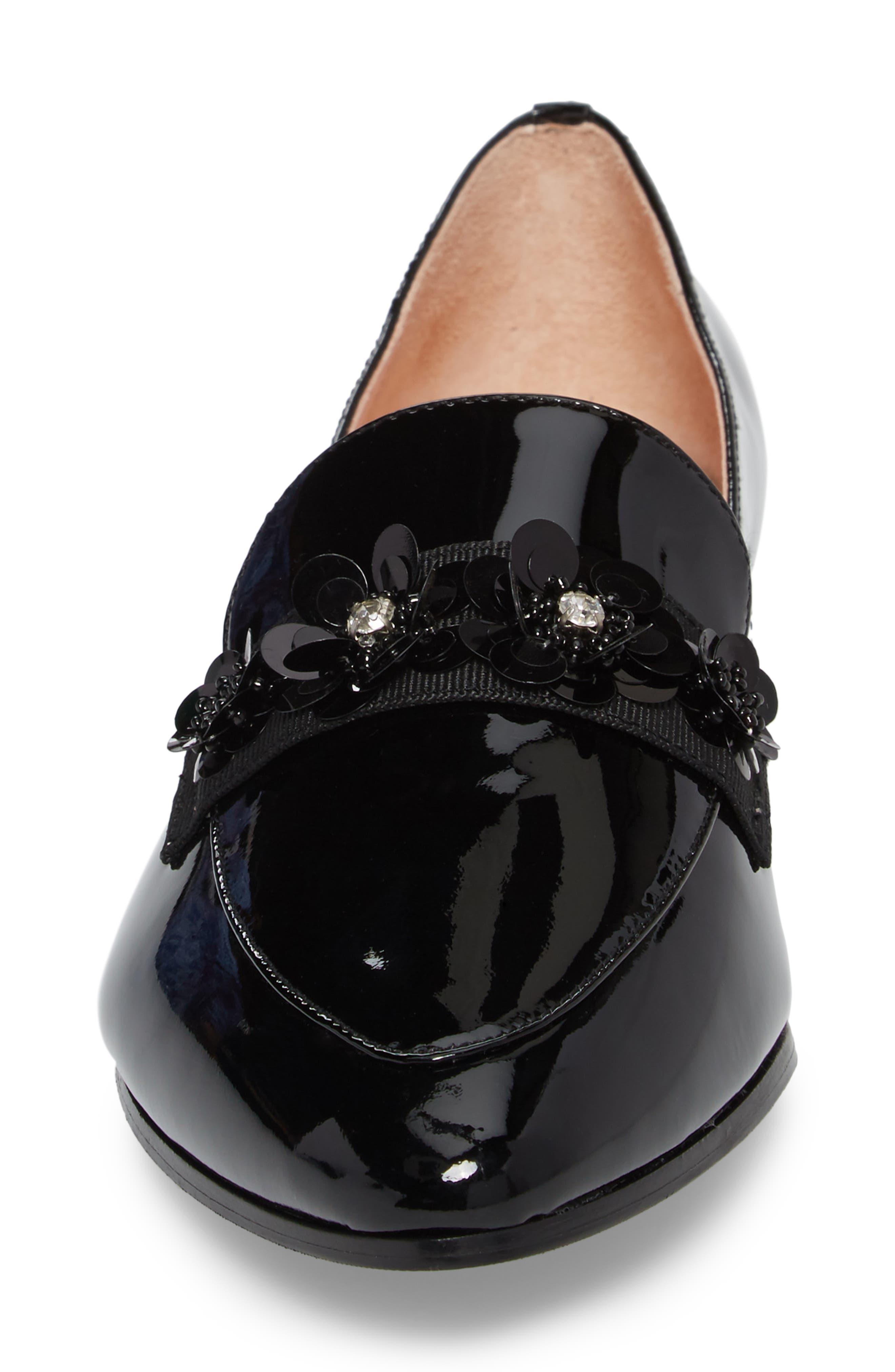 cleo embellished loafer,                             Alternate thumbnail 4, color,                             001