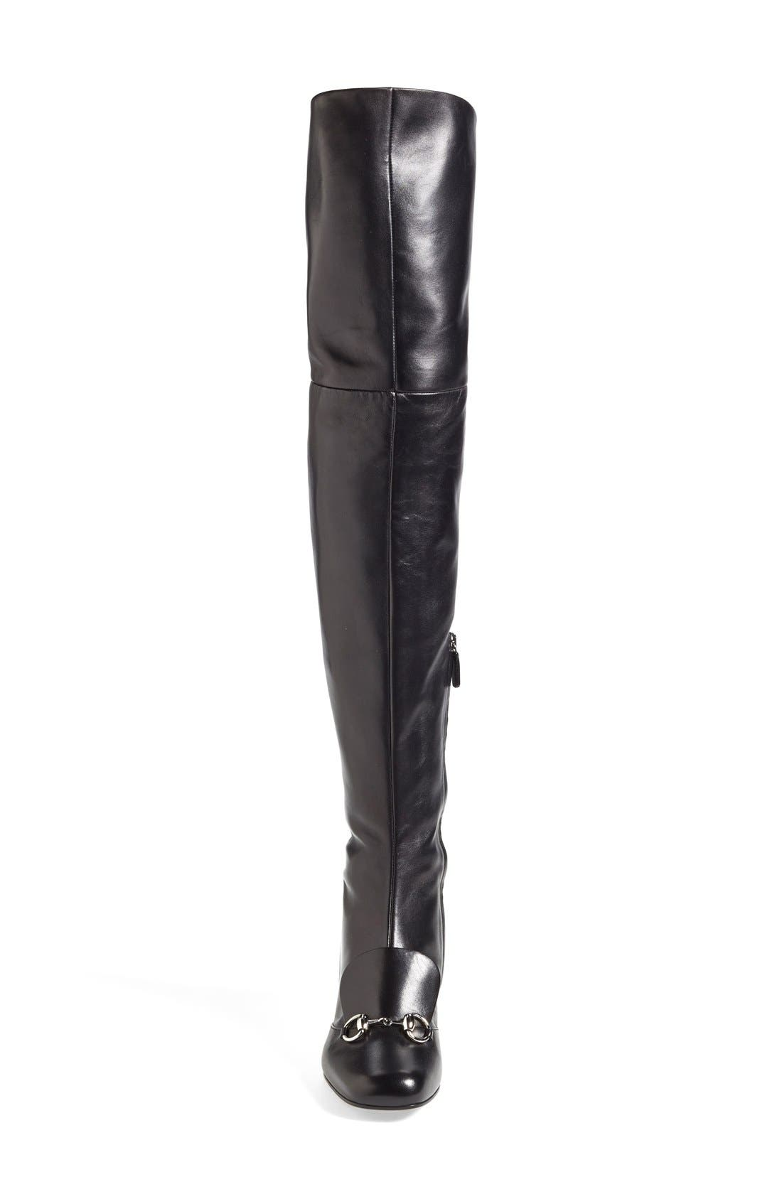 GUCCI,                             'Lillian' Over the Knee Boot,                             Alternate thumbnail 2, color,                             001
