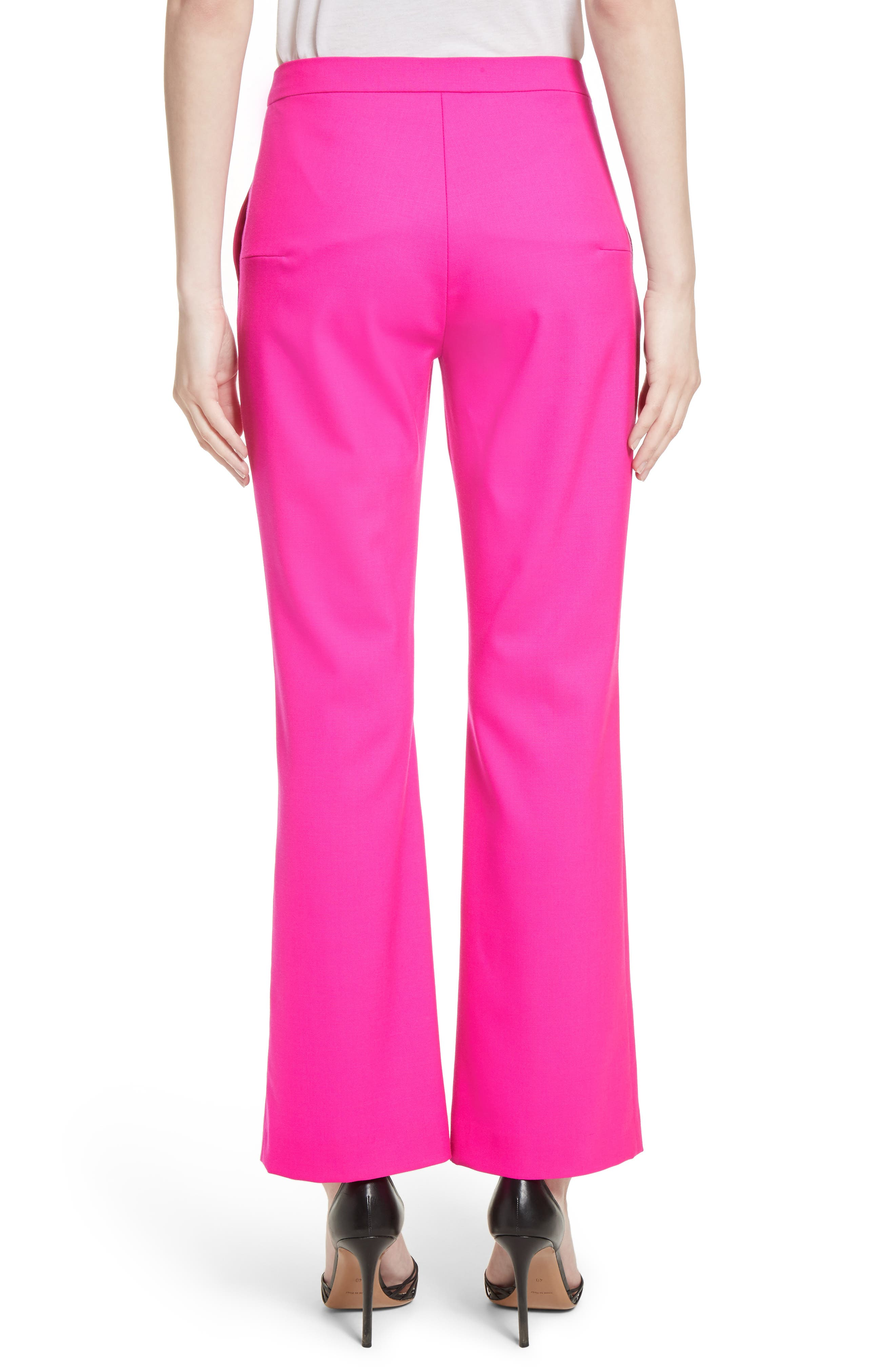 Stretch Wool Crop Flare Pants,                             Alternate thumbnail 2, color,                             650