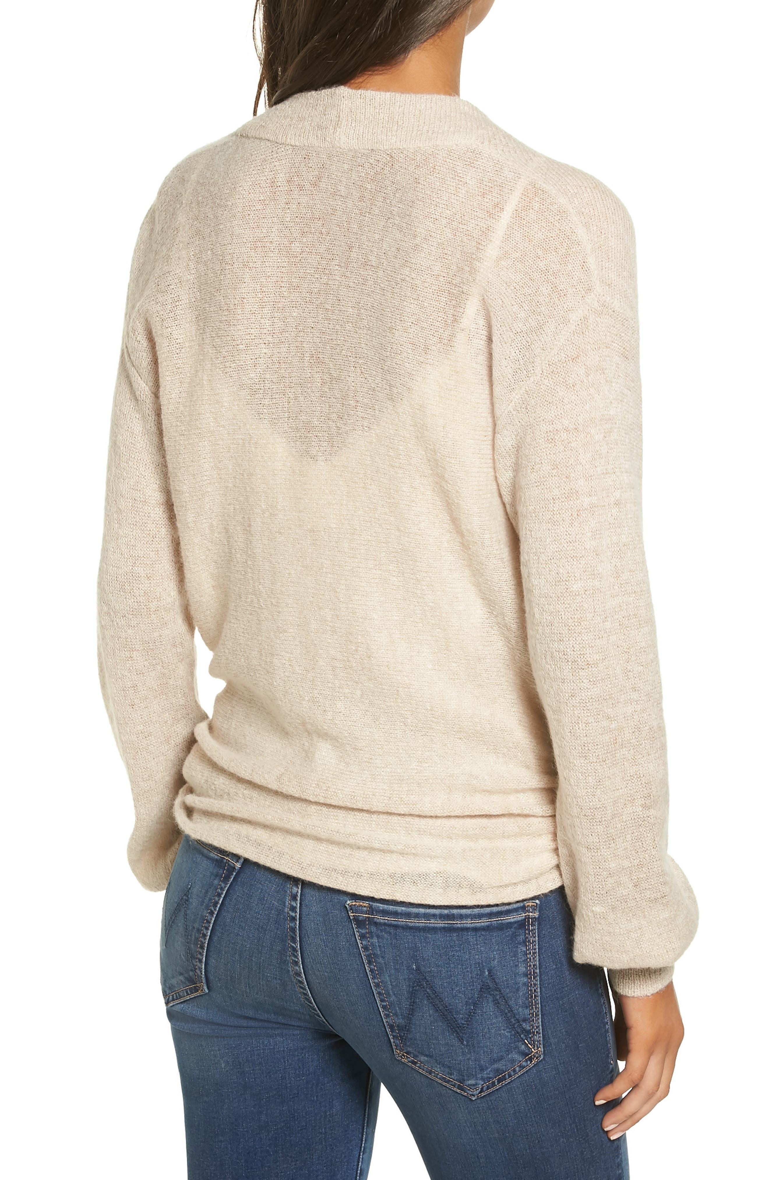 Wrap Front Sweater,                             Alternate thumbnail 2, color,                             235