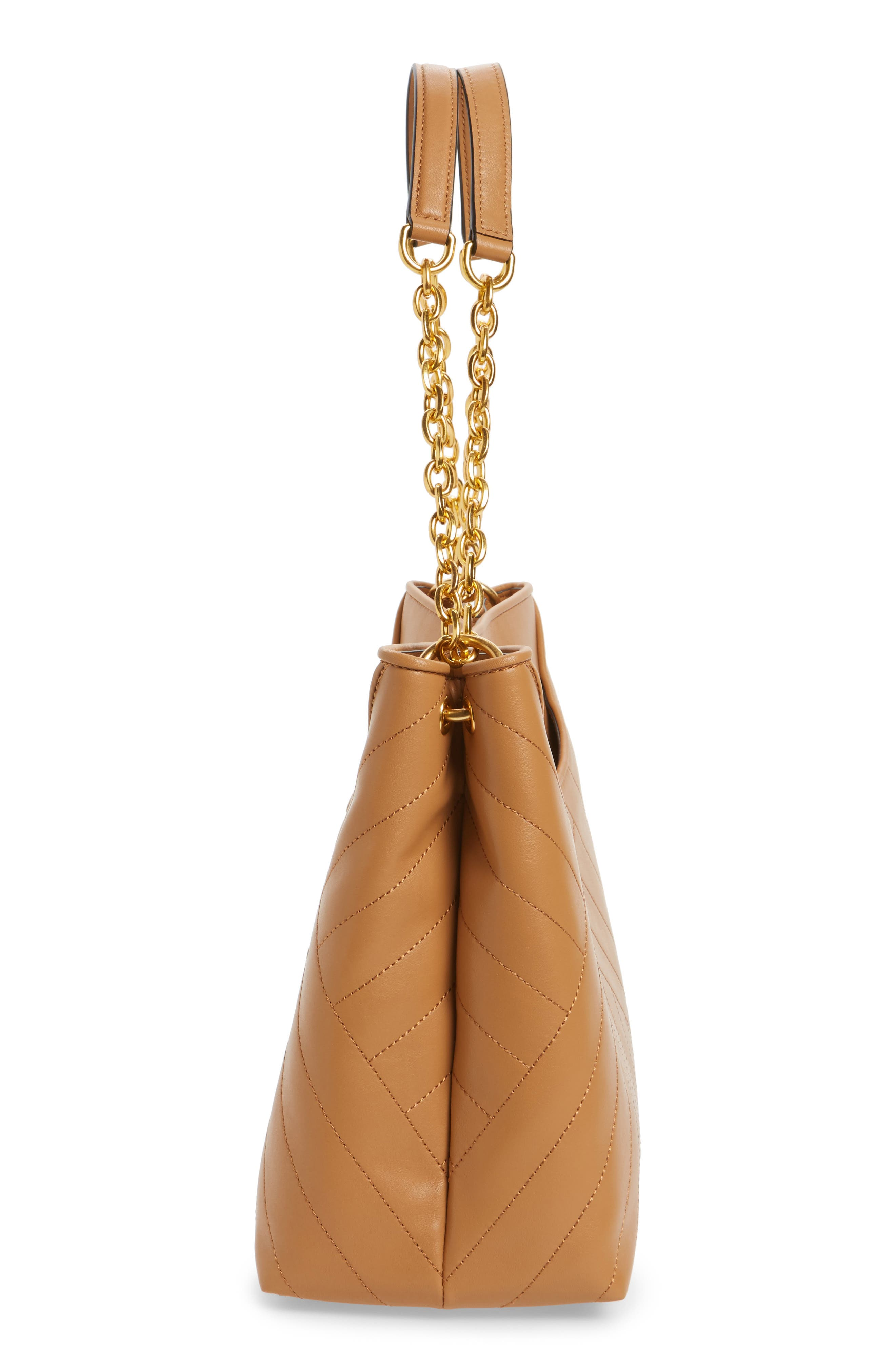 TORY BURCH,                             Alexa Leather Tote,                             Alternate thumbnail 5, color,                             200