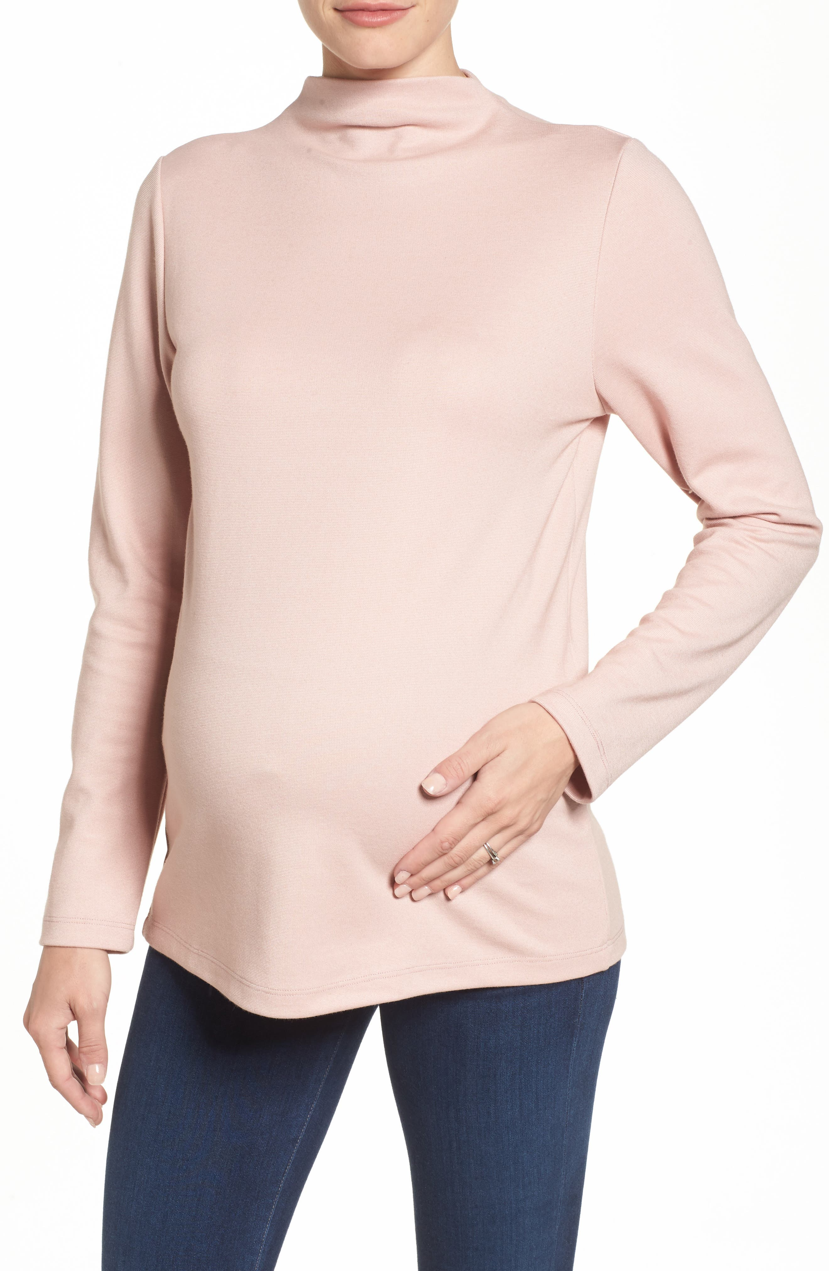 Leah Maternity Top,                         Main,                         color, BLUSH