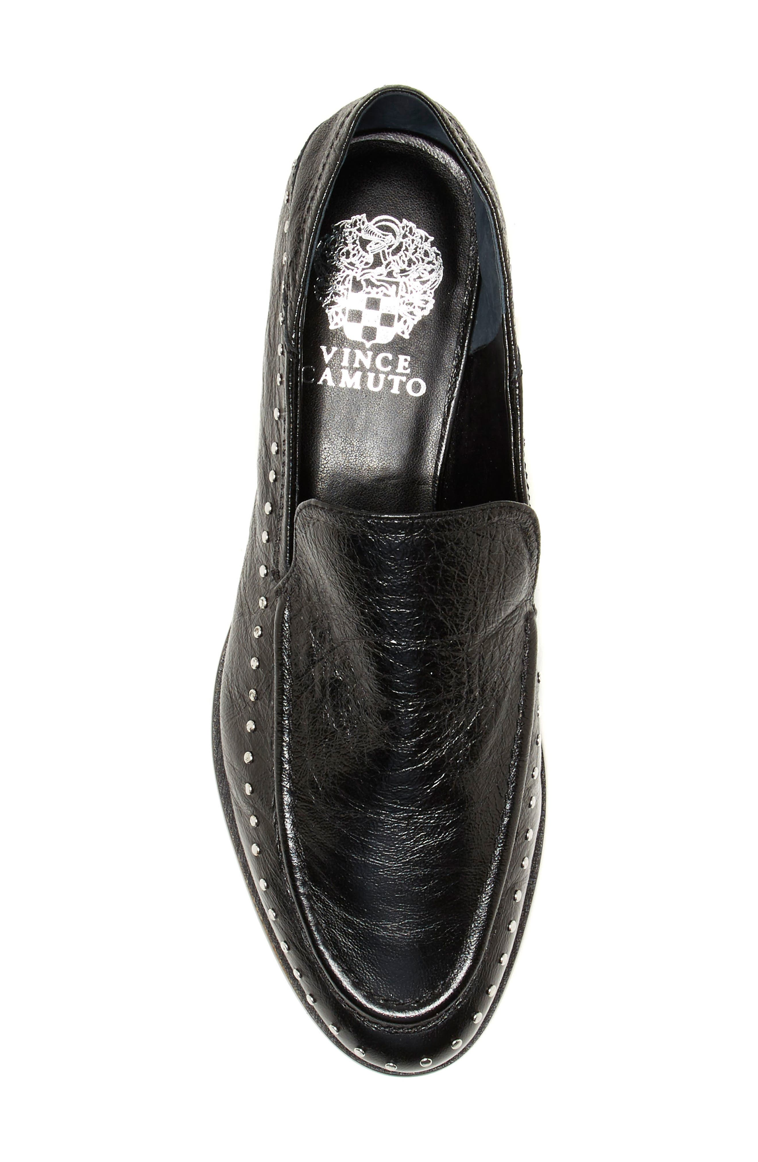Jendeya Convertible Studded Loafer,                             Alternate thumbnail 6, color,                             001