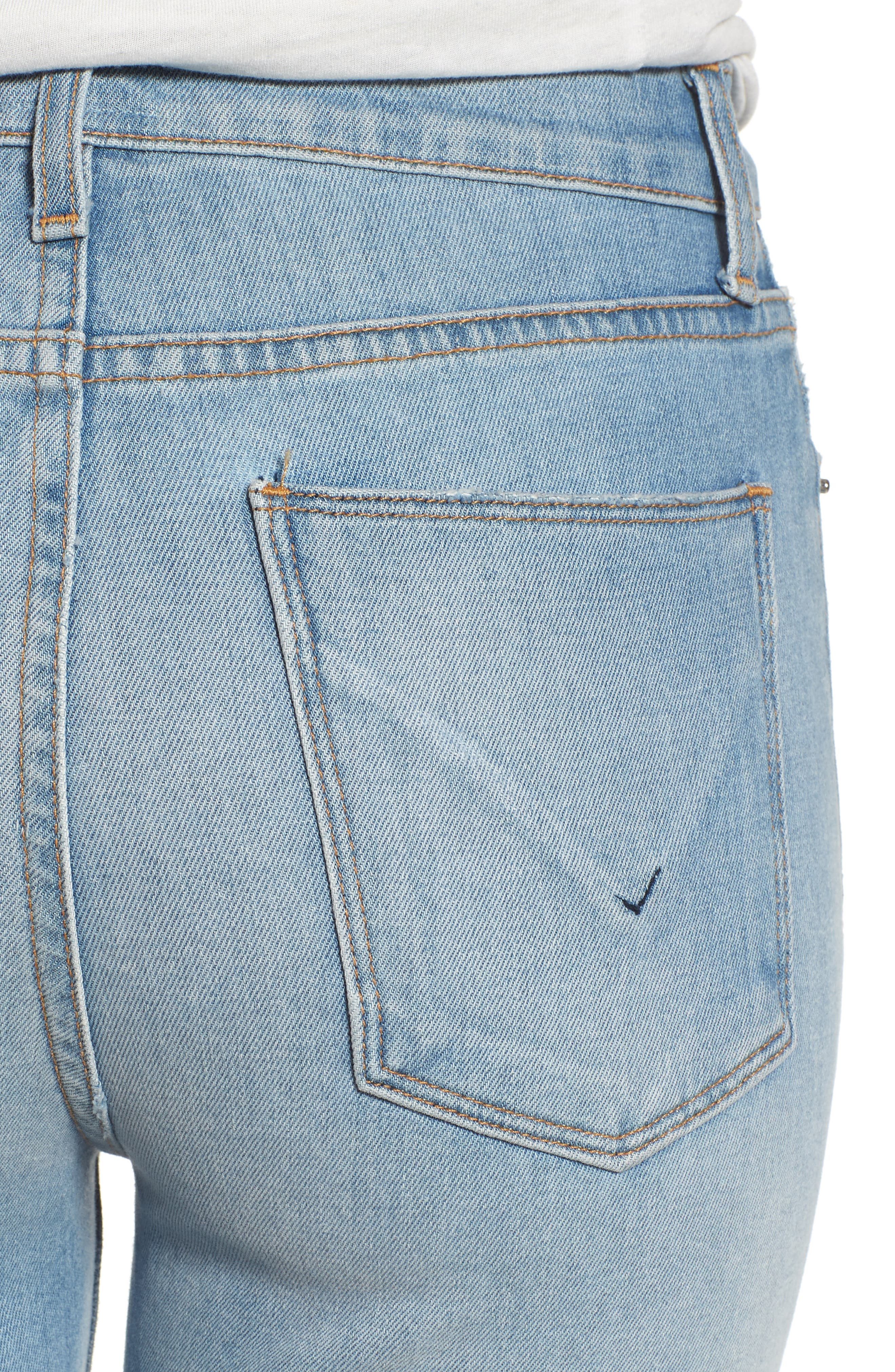 Zoeey High Waist Cutoff Boyfriend Shorts,                             Alternate thumbnail 4, color,                             420