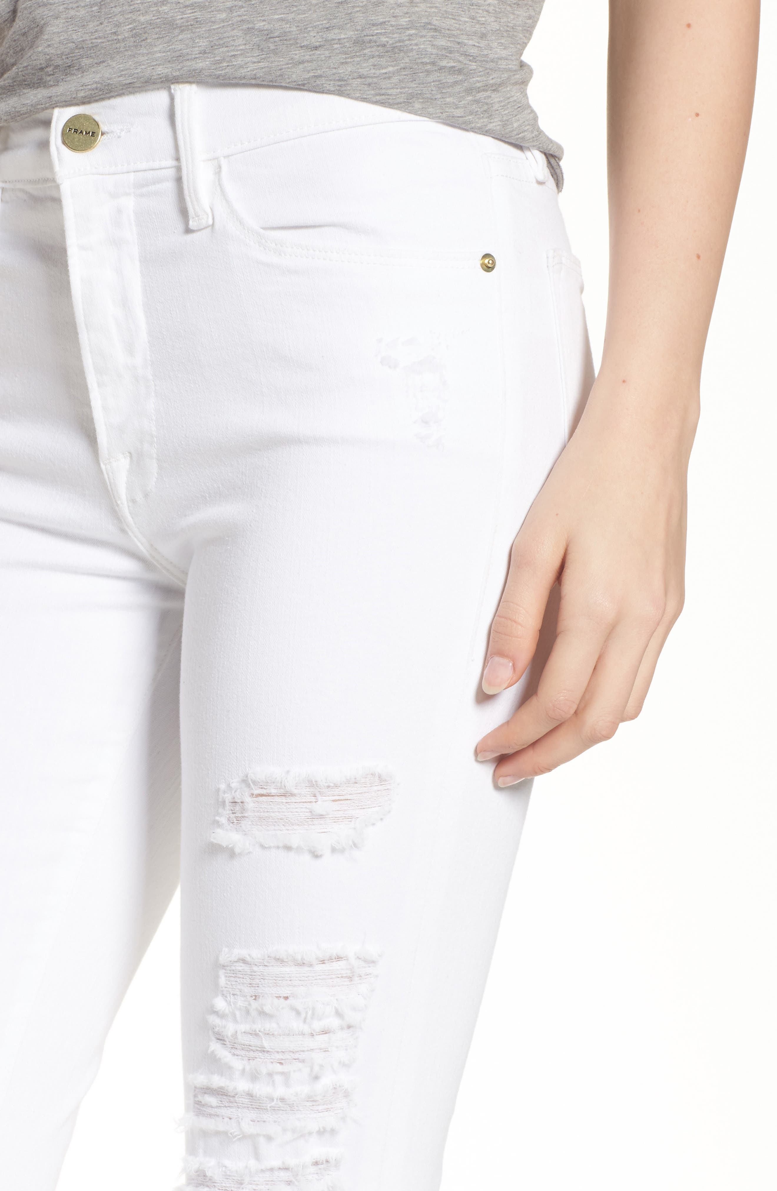 Le Color High Waist Skinny Jeans,                             Alternate thumbnail 9, color,
