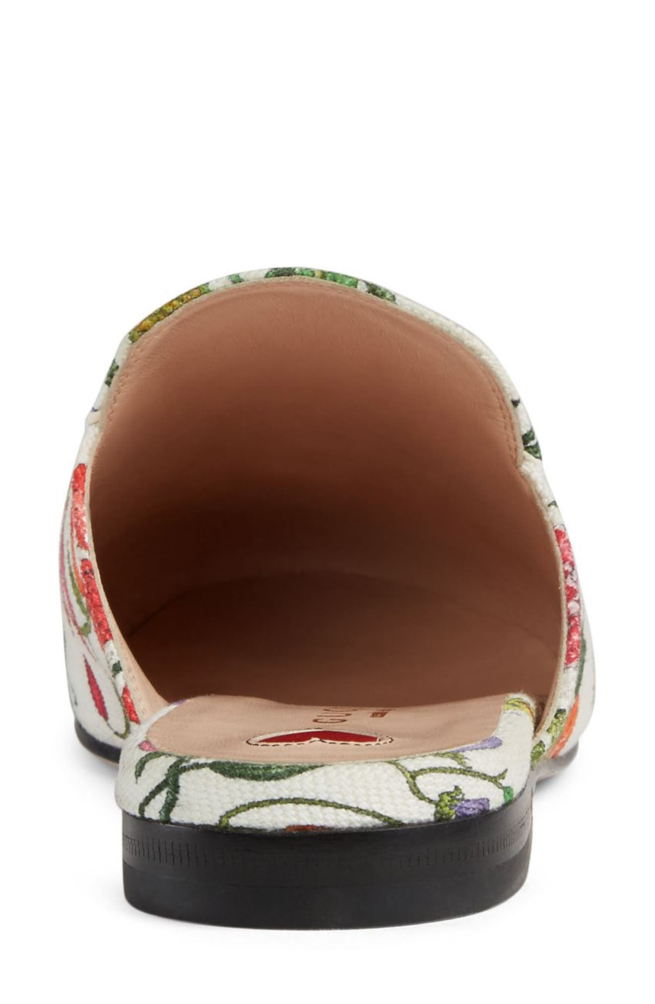 Princetown Loafer Mule,                             Alternate thumbnail 6, color,                             WHITE FLORAL