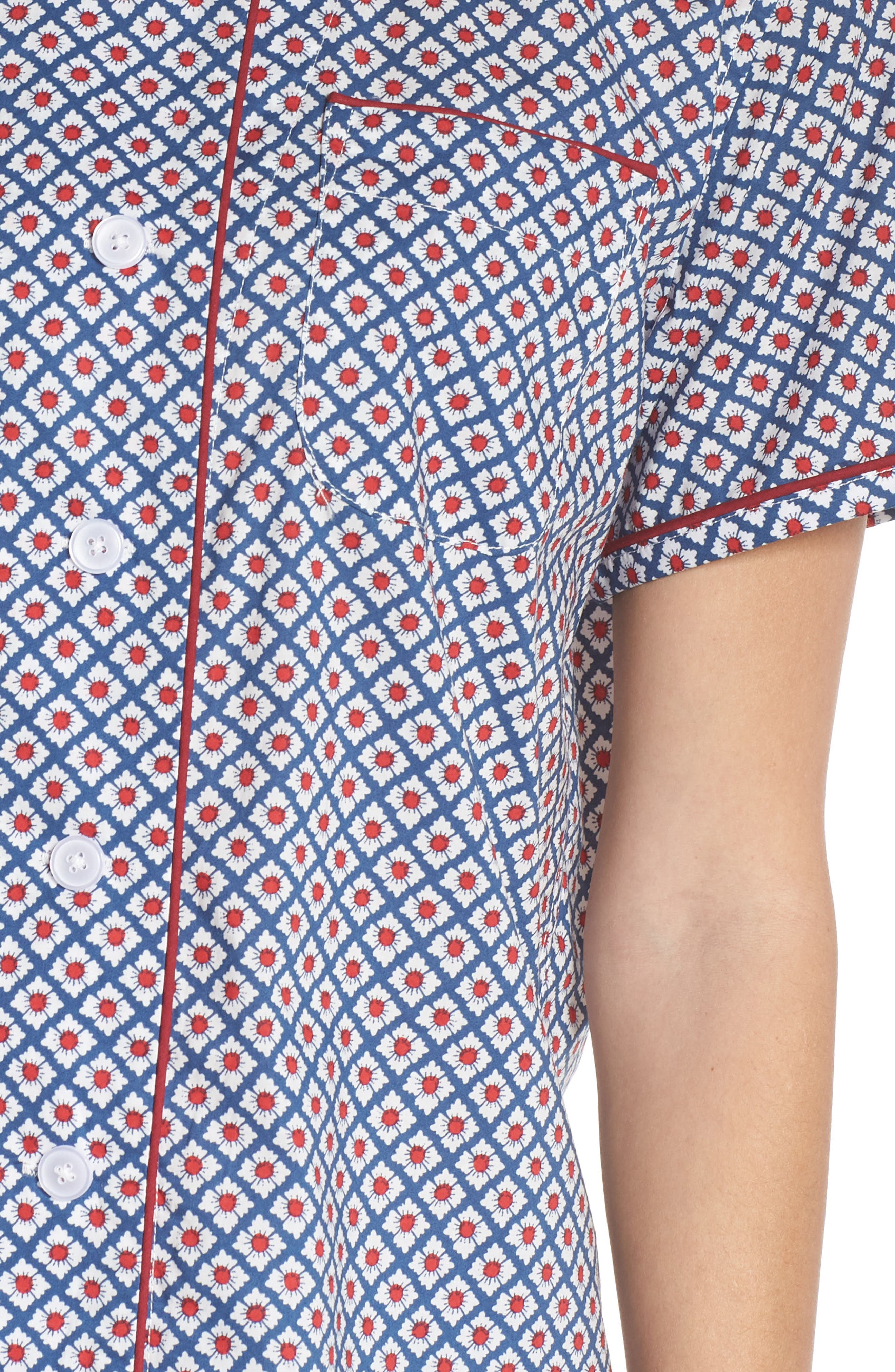 Corita Women's Pajama Shirt,                             Alternate thumbnail 5, color,                             NAVY