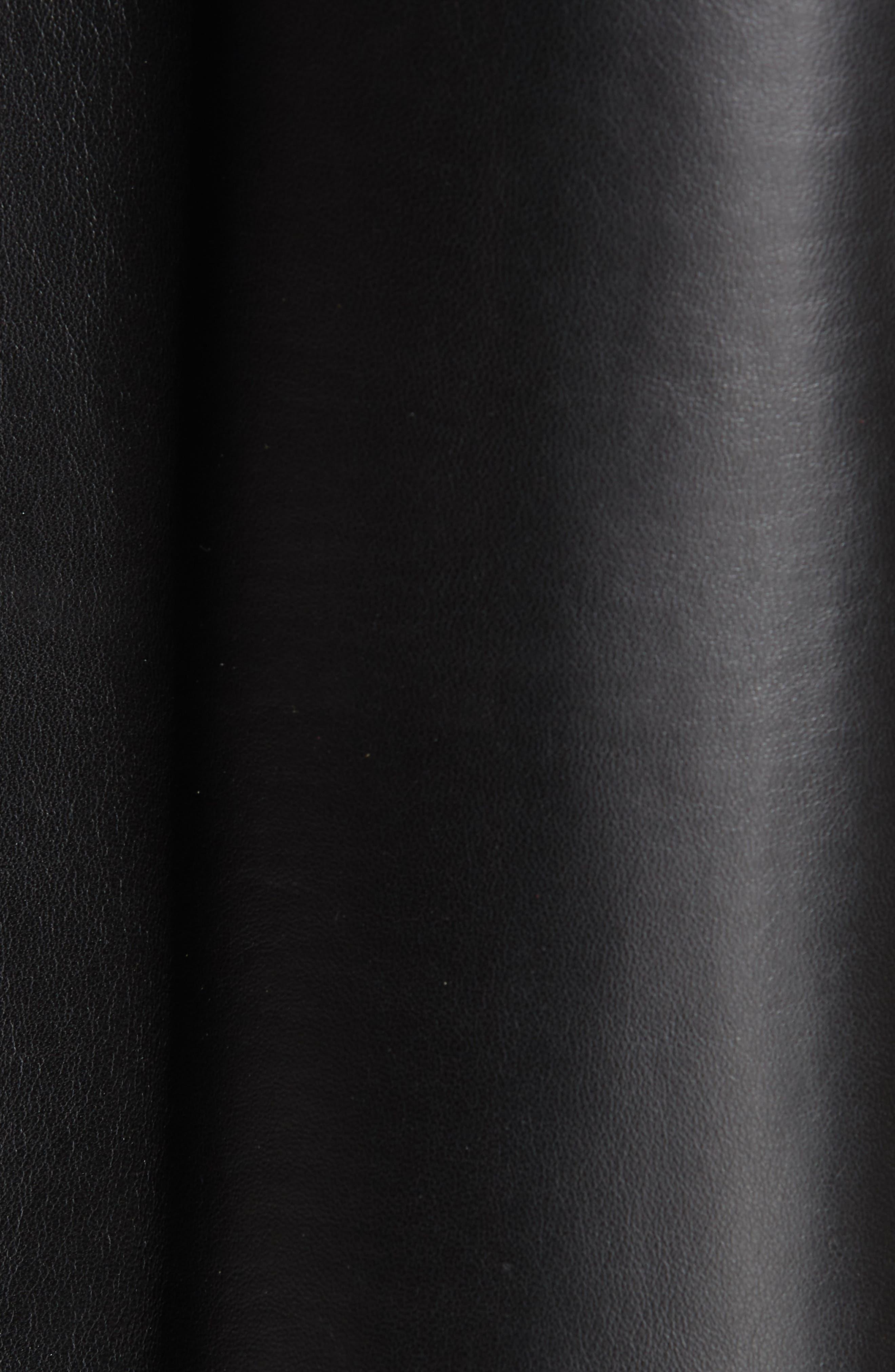 Christopher Leather Jacket,                             Alternate thumbnail 7, color,                             BLACK
