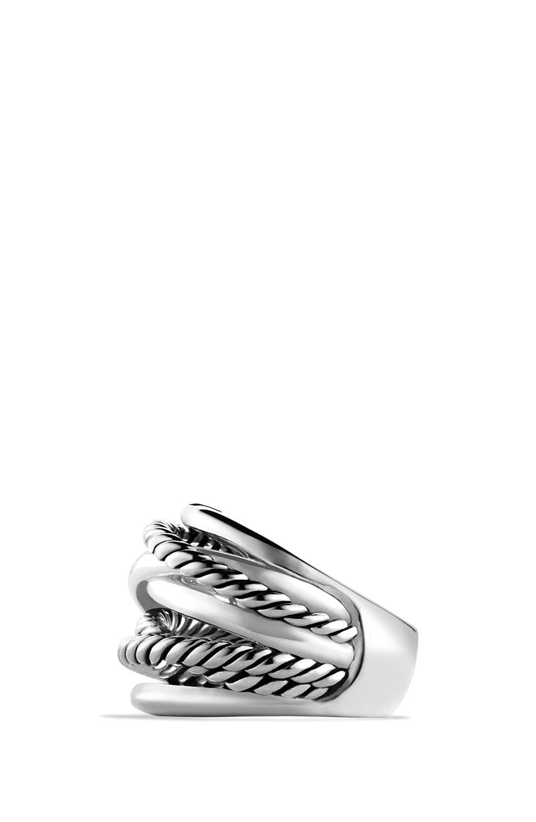 'Crossover' Wide Ring,                             Alternate thumbnail 2, color,                             NO COLOR