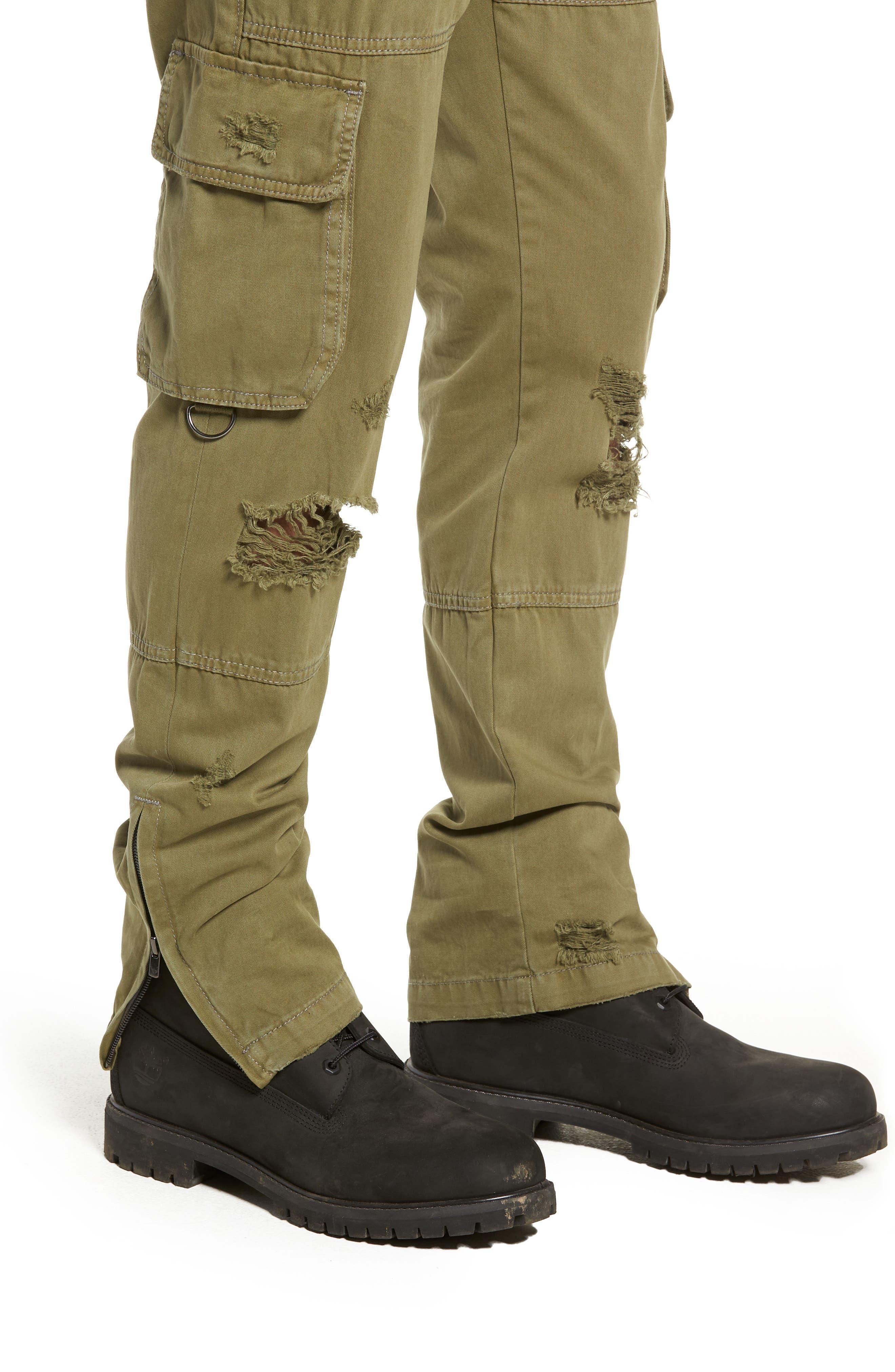 Military Cargo Pants,                             Alternate thumbnail 4, color,                             MIST GREEN