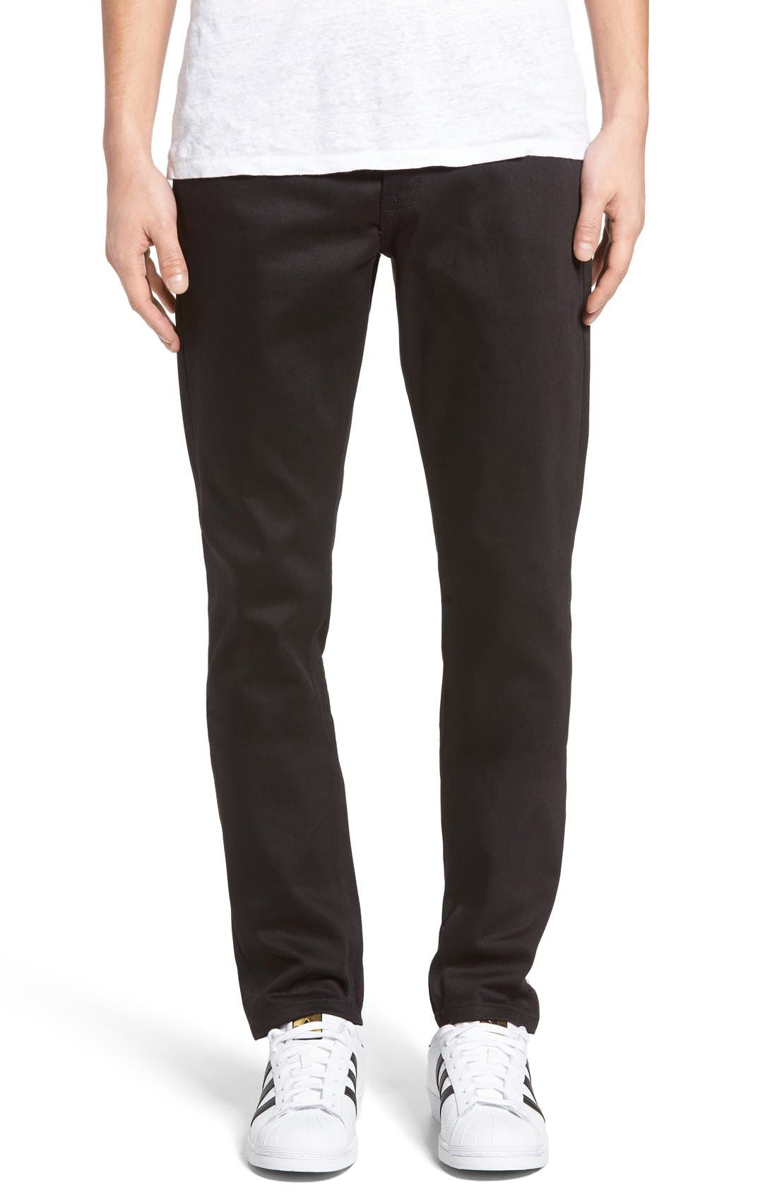 UB455 Selvedge Skinny Fit Jeans,                             Main thumbnail 1, color,                             001