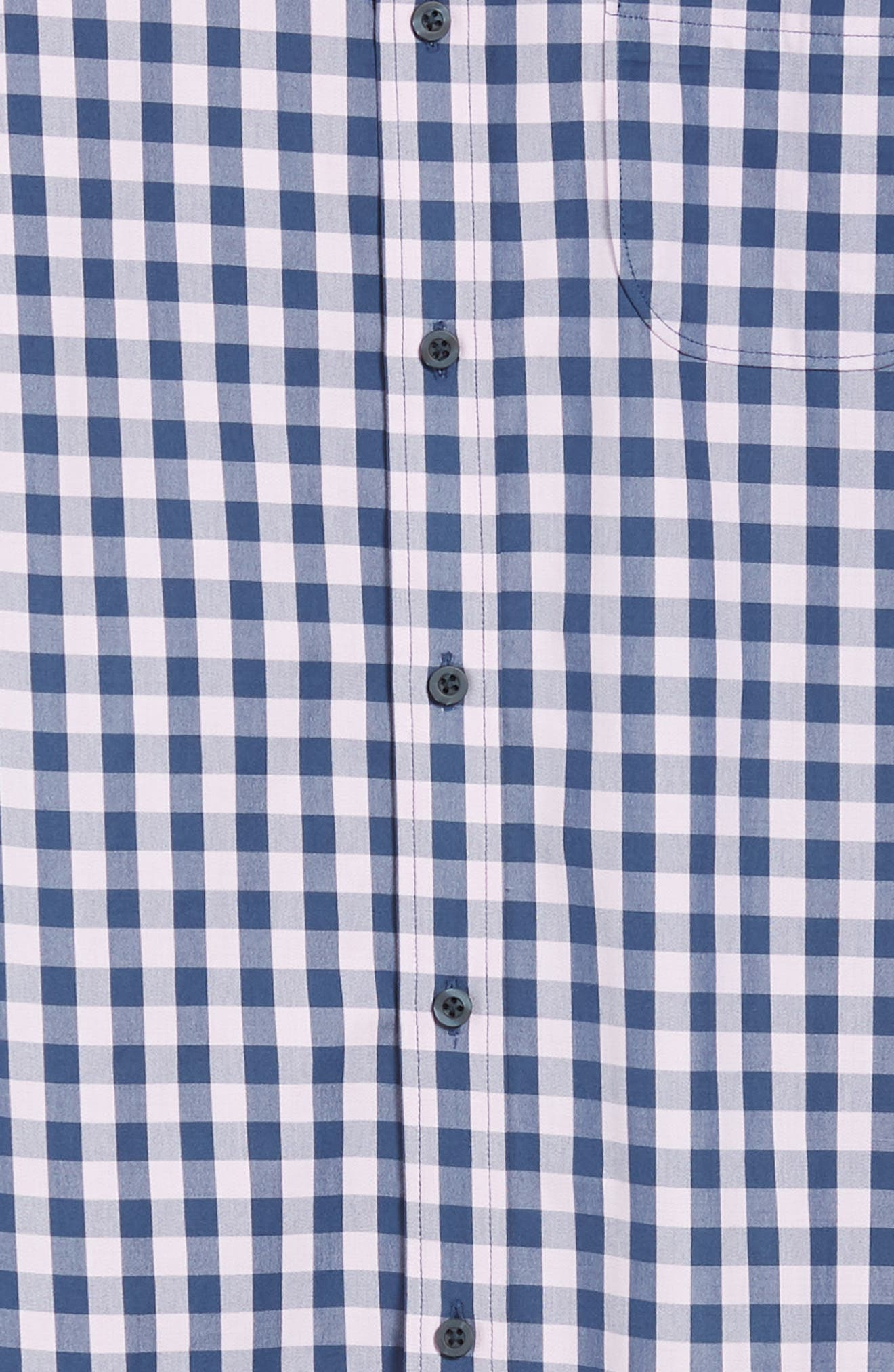 Slim Fit Gingham Sport Shirt,                             Alternate thumbnail 6, color,                             NAVY IRIS PINK CAMEO GINGHAM