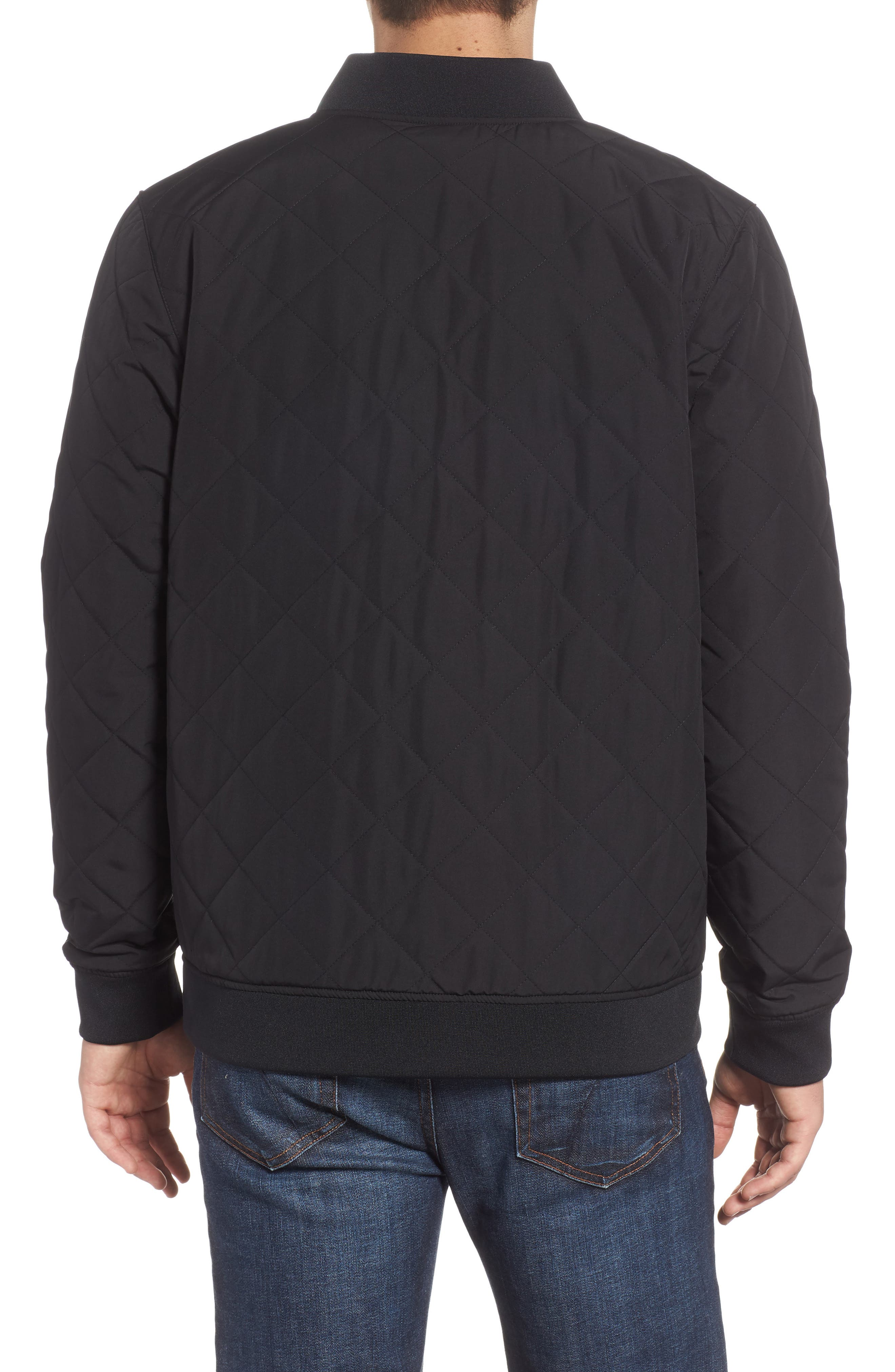 Jester Reversible Bomber Jacket,                             Alternate thumbnail 3, color,                             TNF BLACK