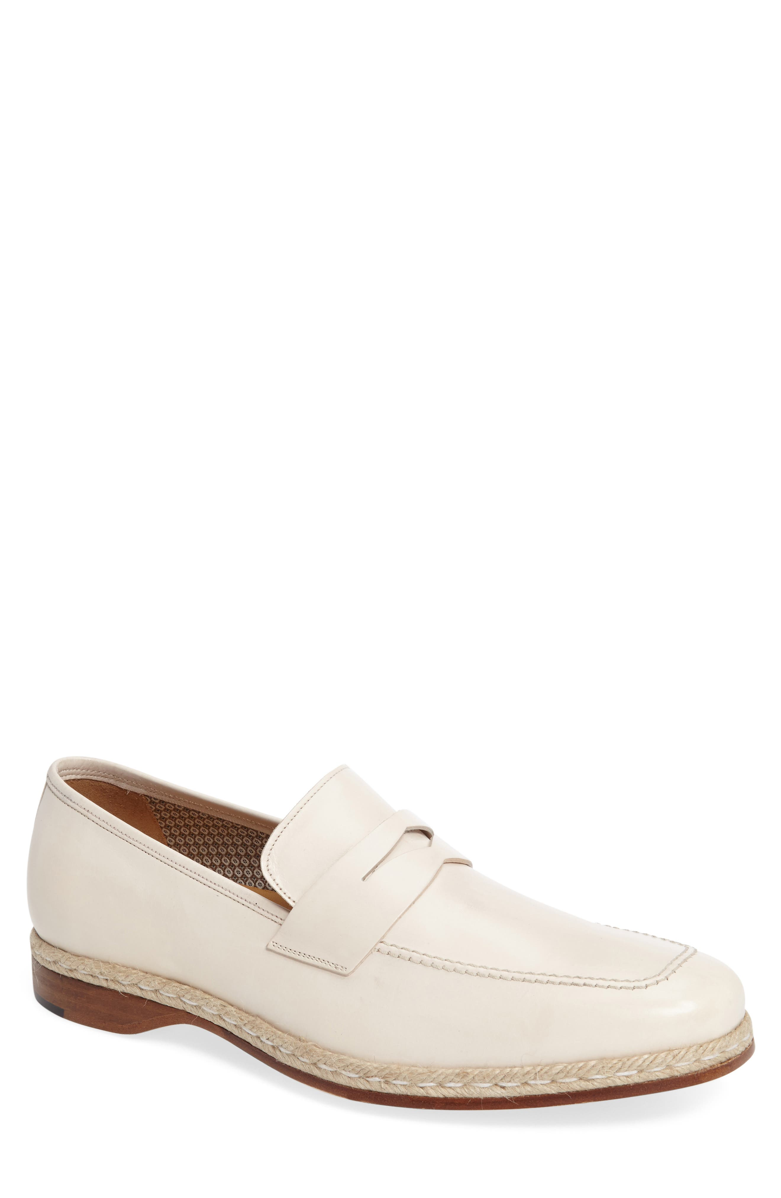 Battani Penny Loafer,                         Main,                         color, BONE LEATHER
