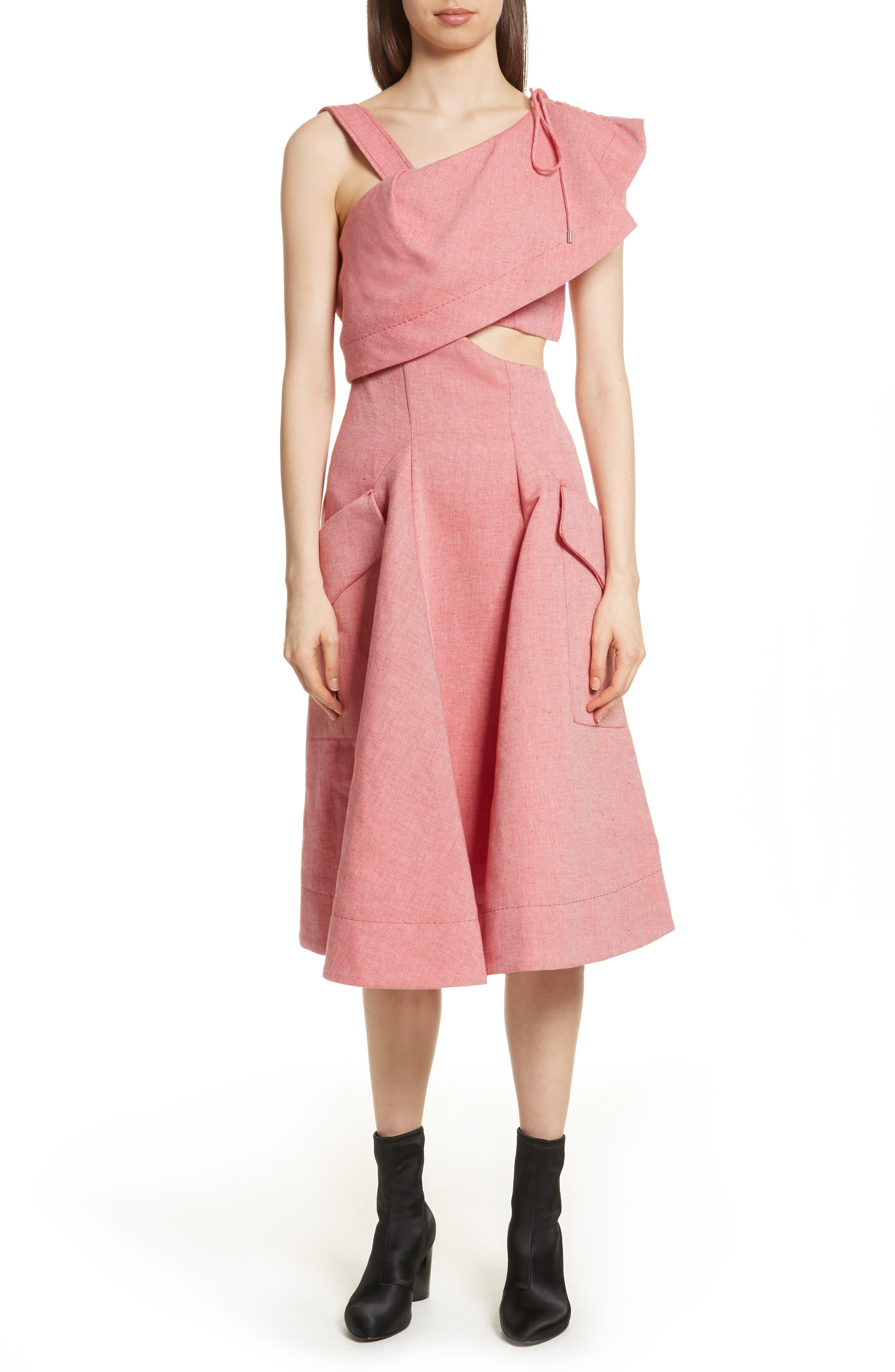 Robe Genou Dress,                             Main thumbnail 1, color,