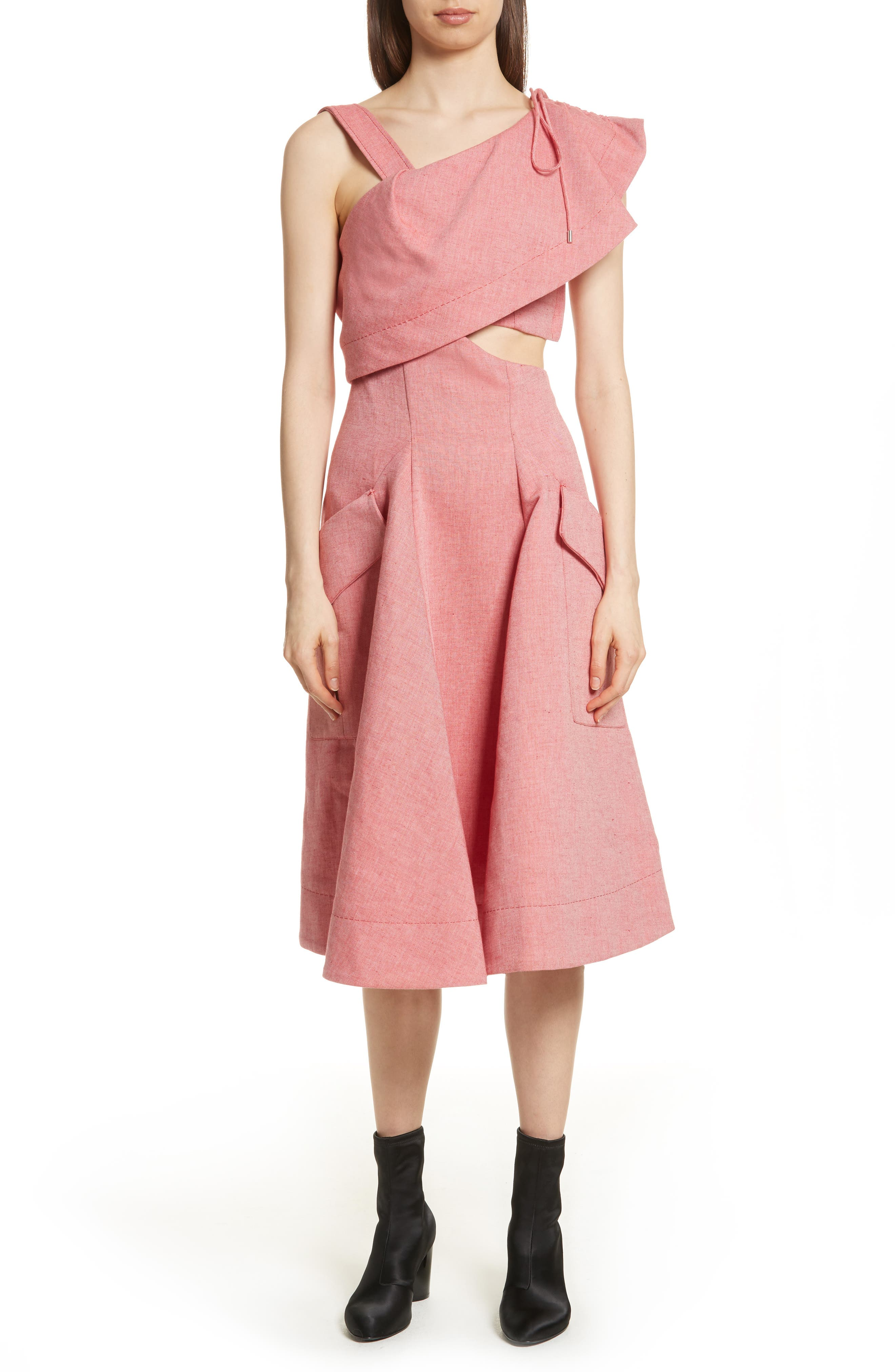 Robe Genou Dress,                         Main,                         color, 650