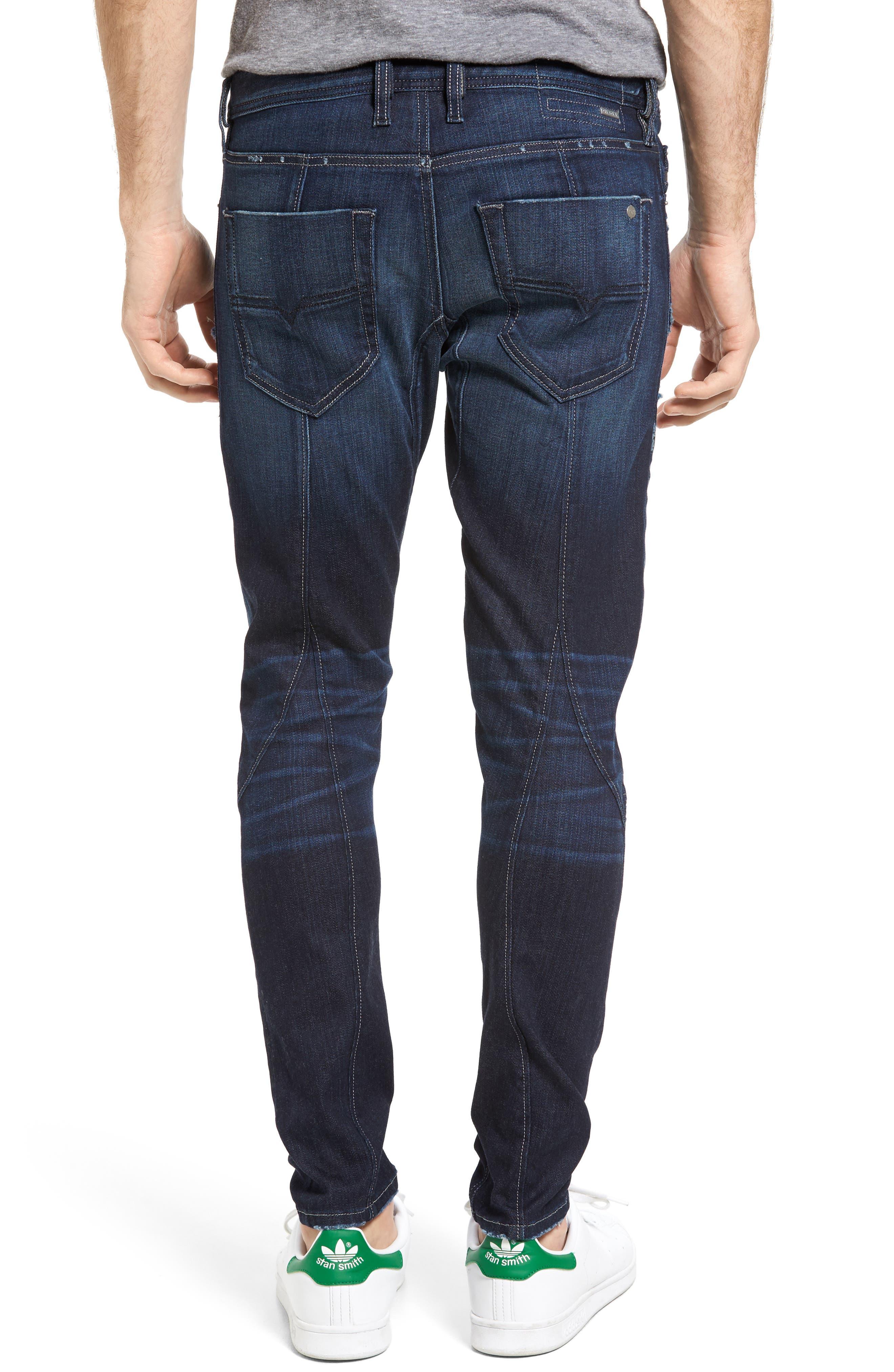 T-Ride Skinny Fit Moto Jeans,                             Alternate thumbnail 2, color,                             400