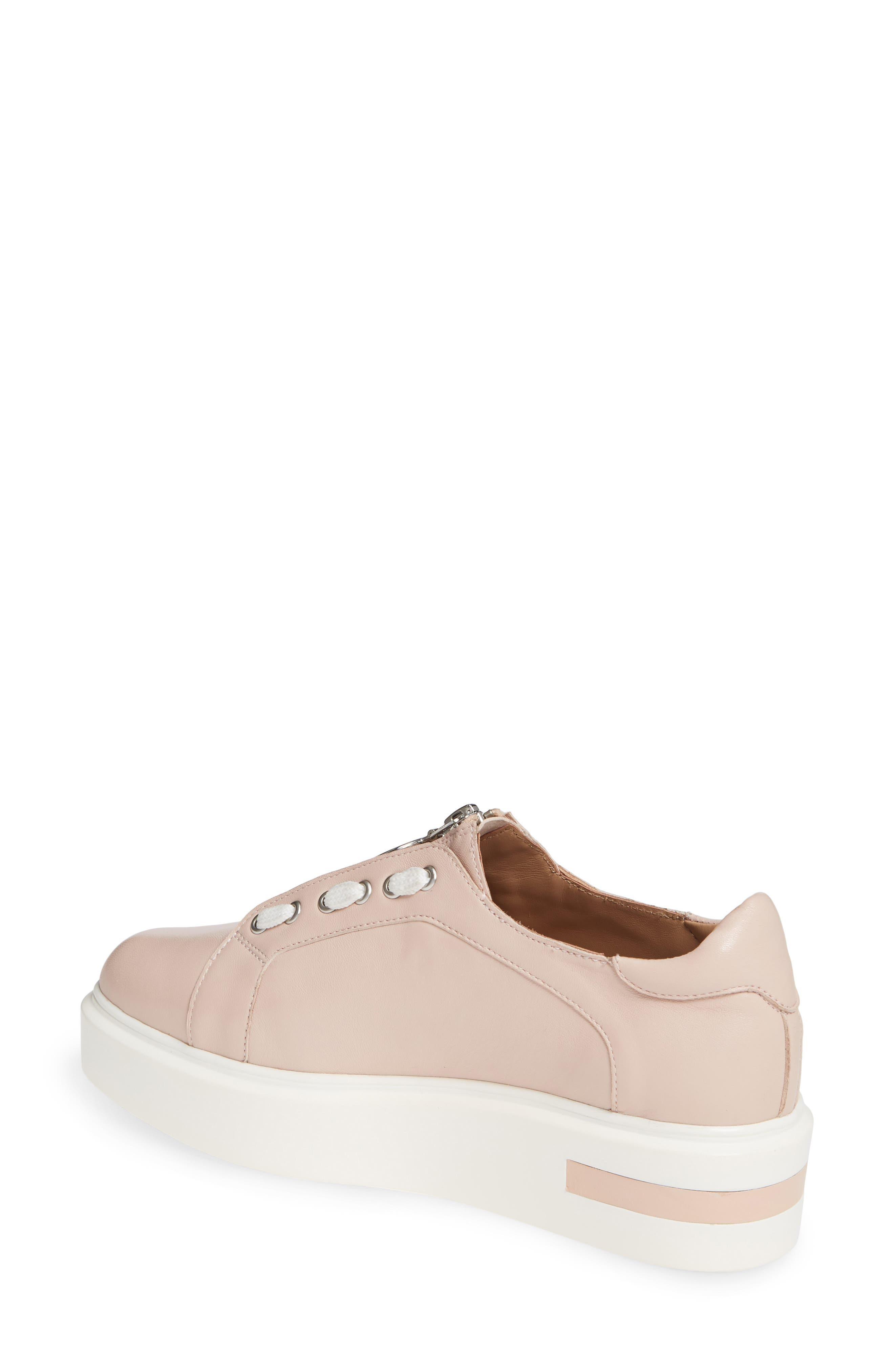 LINEA PAOLO,                             Killian Platform Sneaker,                             Alternate thumbnail 2, color,                             BLUSH LEATHER