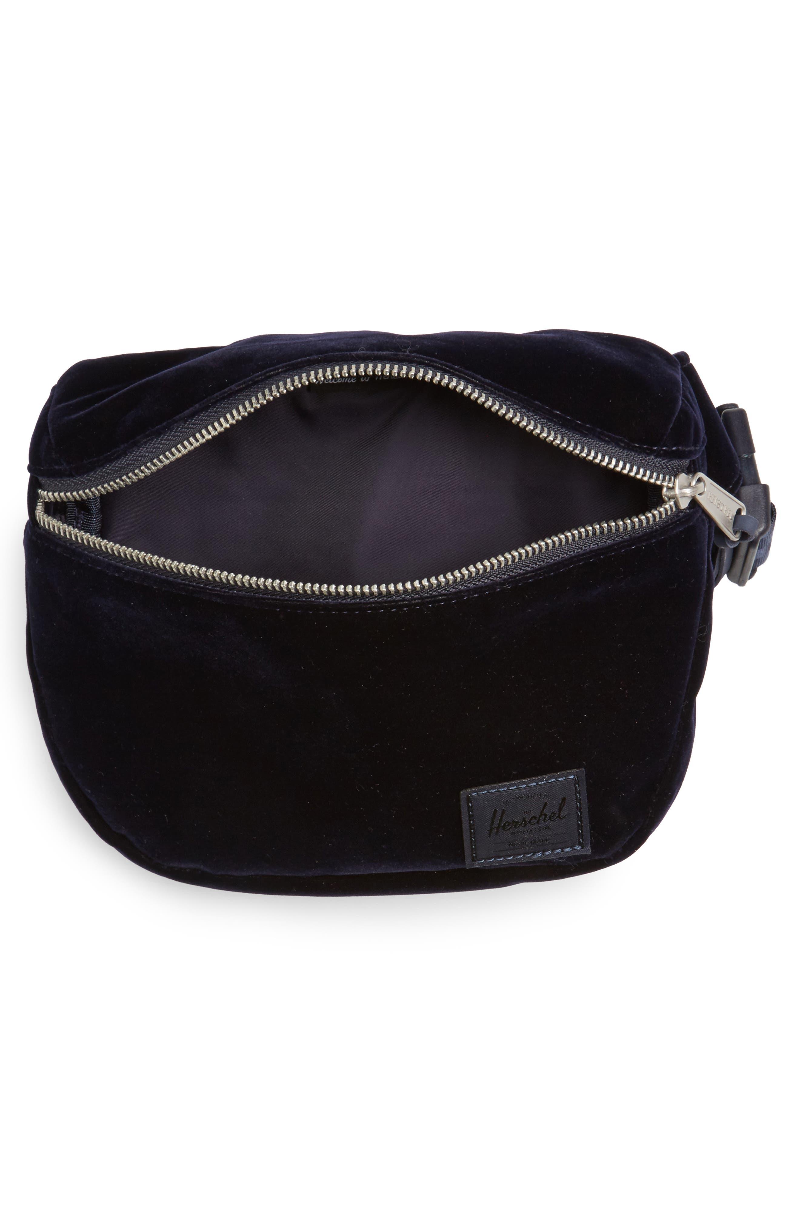 Fifteen Velvet Belt Bag,                             Alternate thumbnail 4, color,                             400