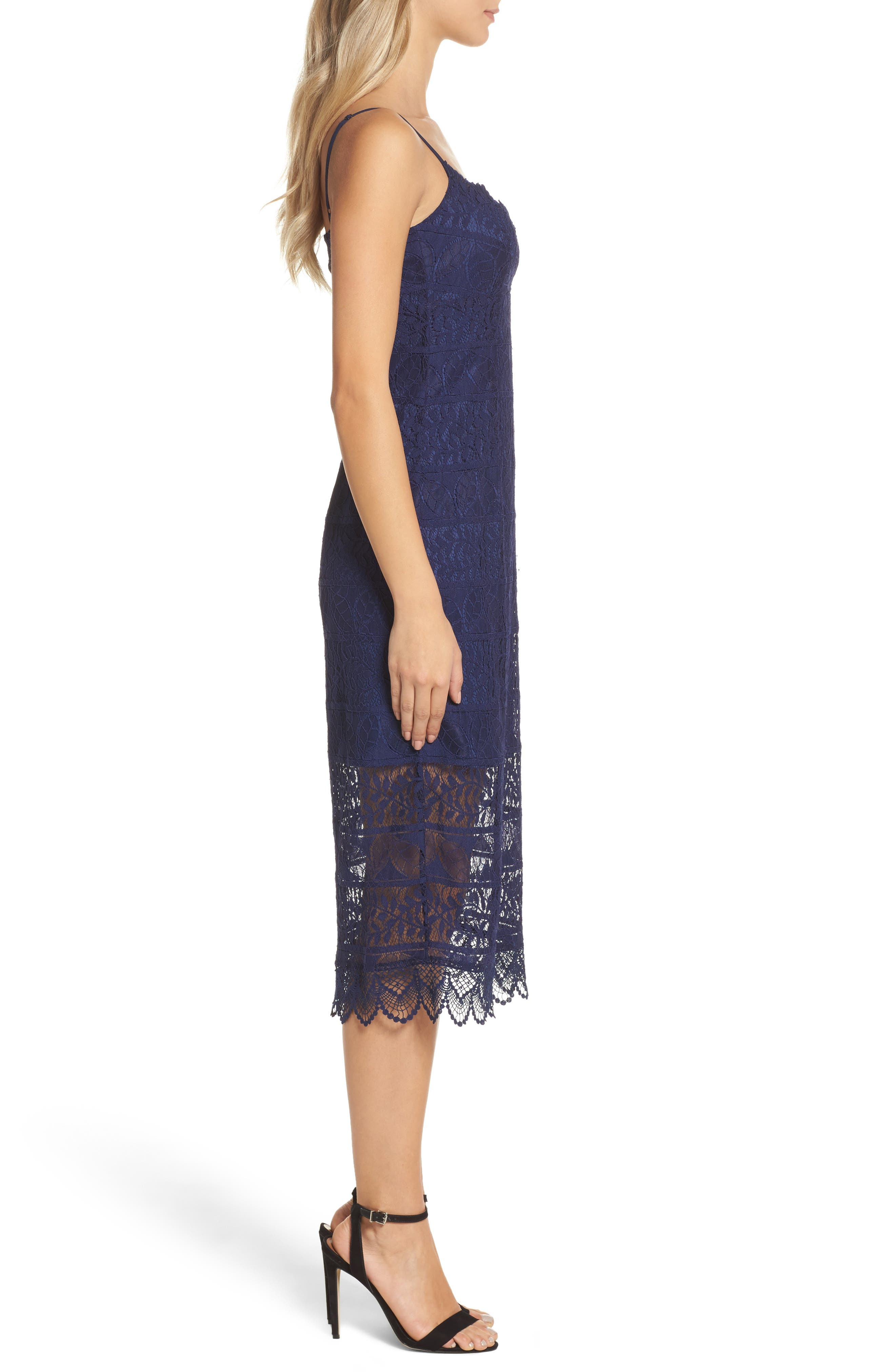 Floral Lace Slipdress,                             Alternate thumbnail 3, color,                             410