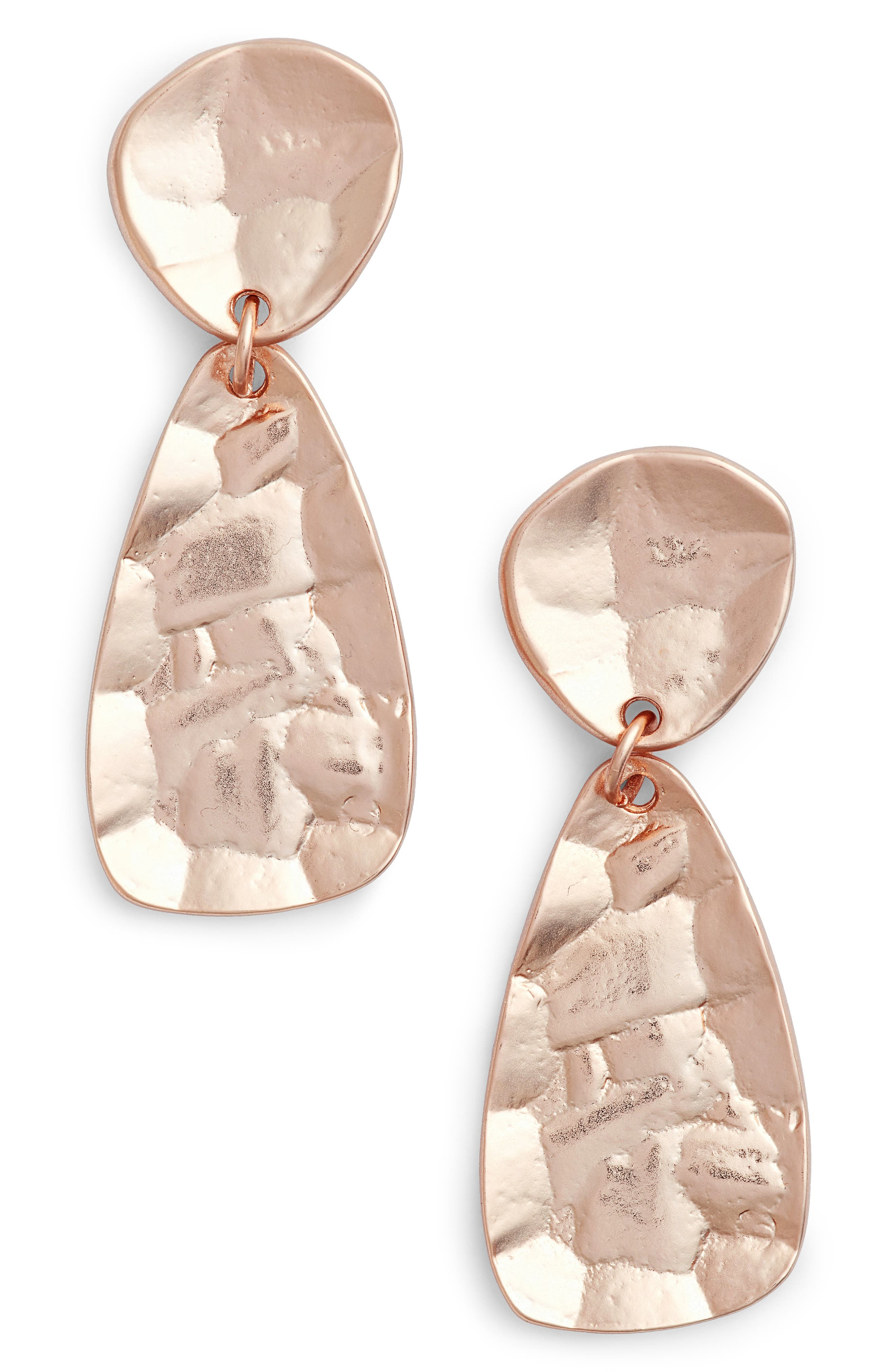 Athena Oval Drop Earrings,                             Main thumbnail 1, color,                             ROSE GOLD