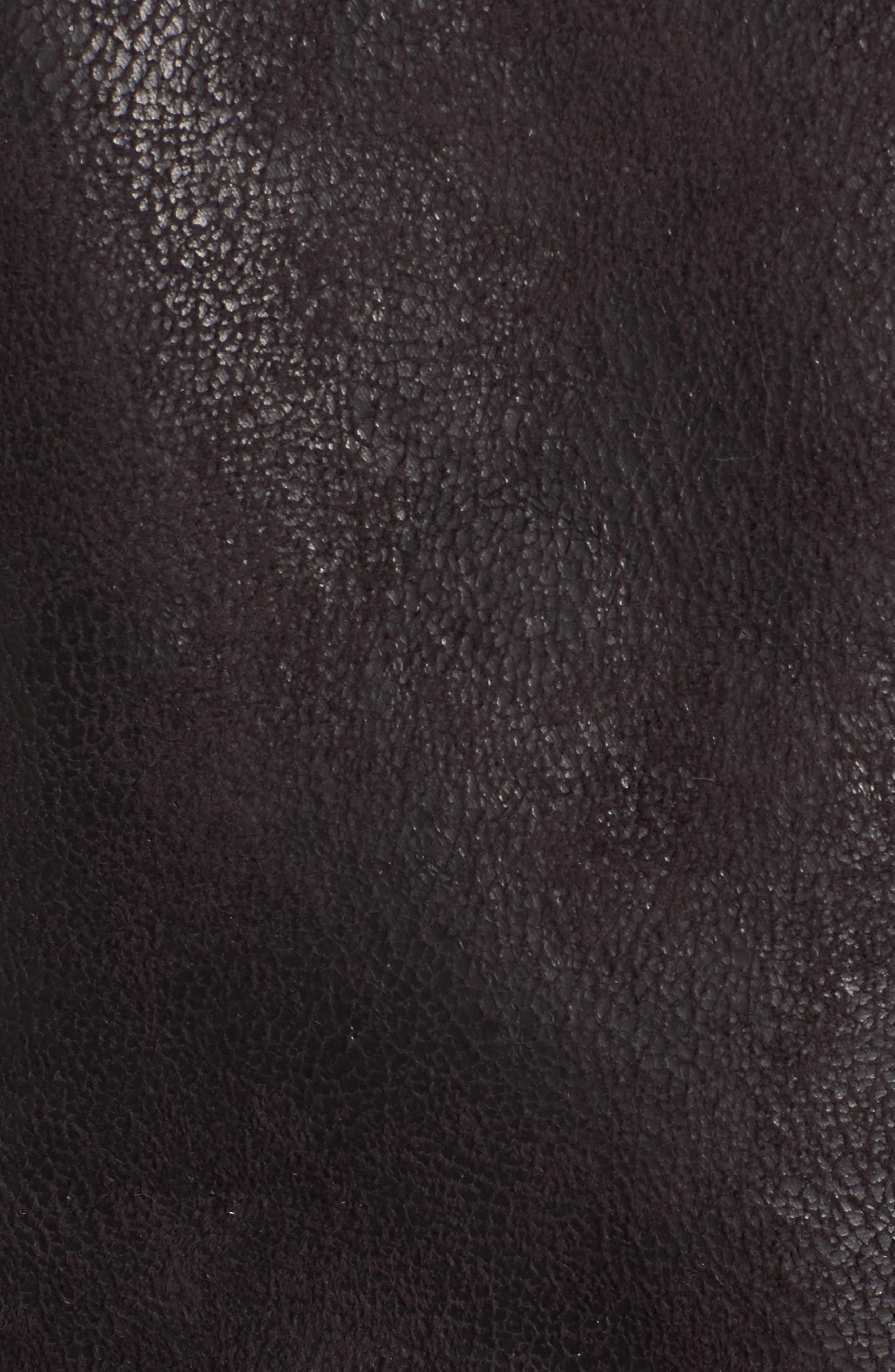 Faux Shearling Moto Vest,                             Alternate thumbnail 6, color,                             001
