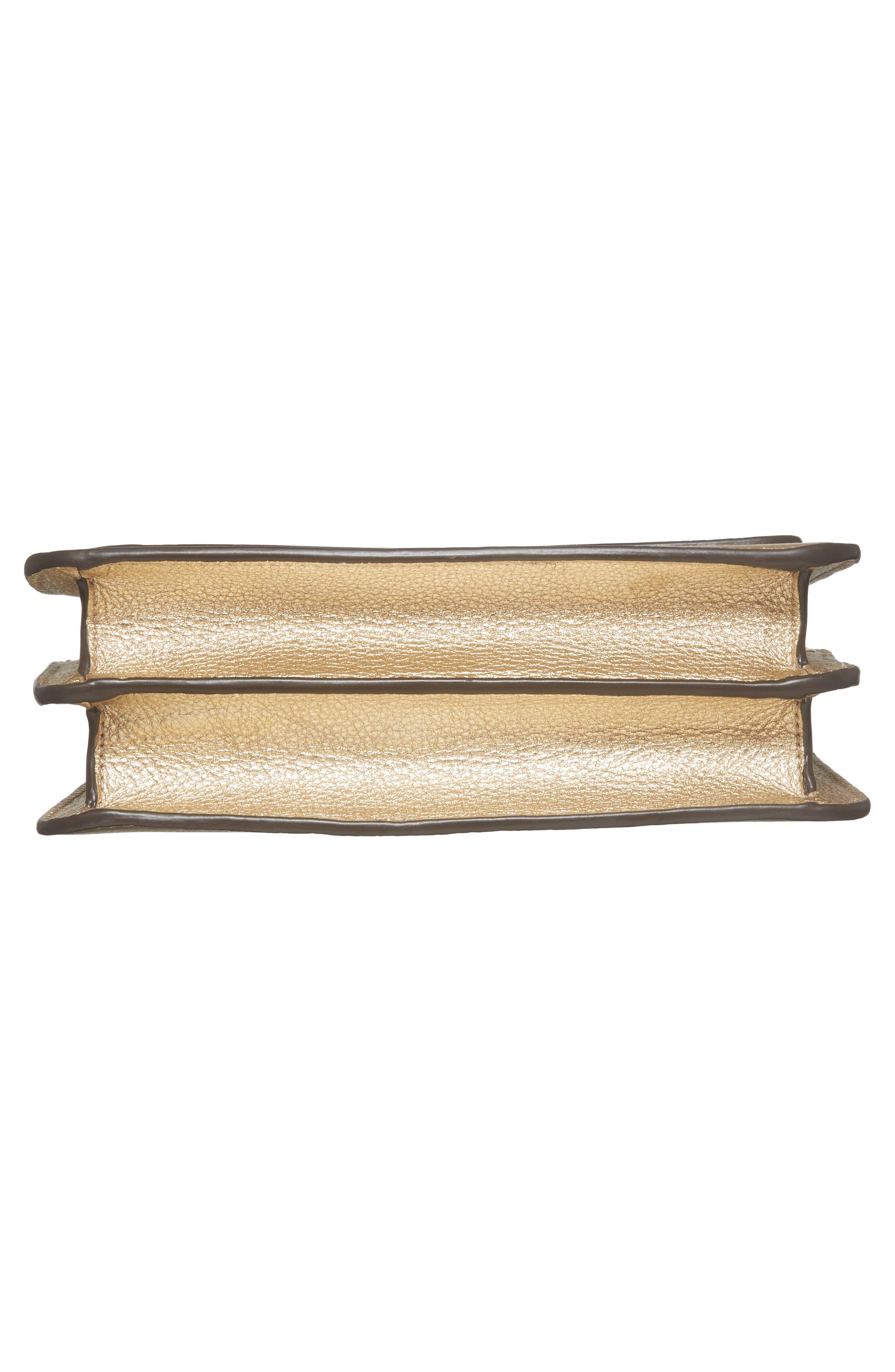 McGraw Metallic Leather Shoulder Bag,                             Alternate thumbnail 6, color,