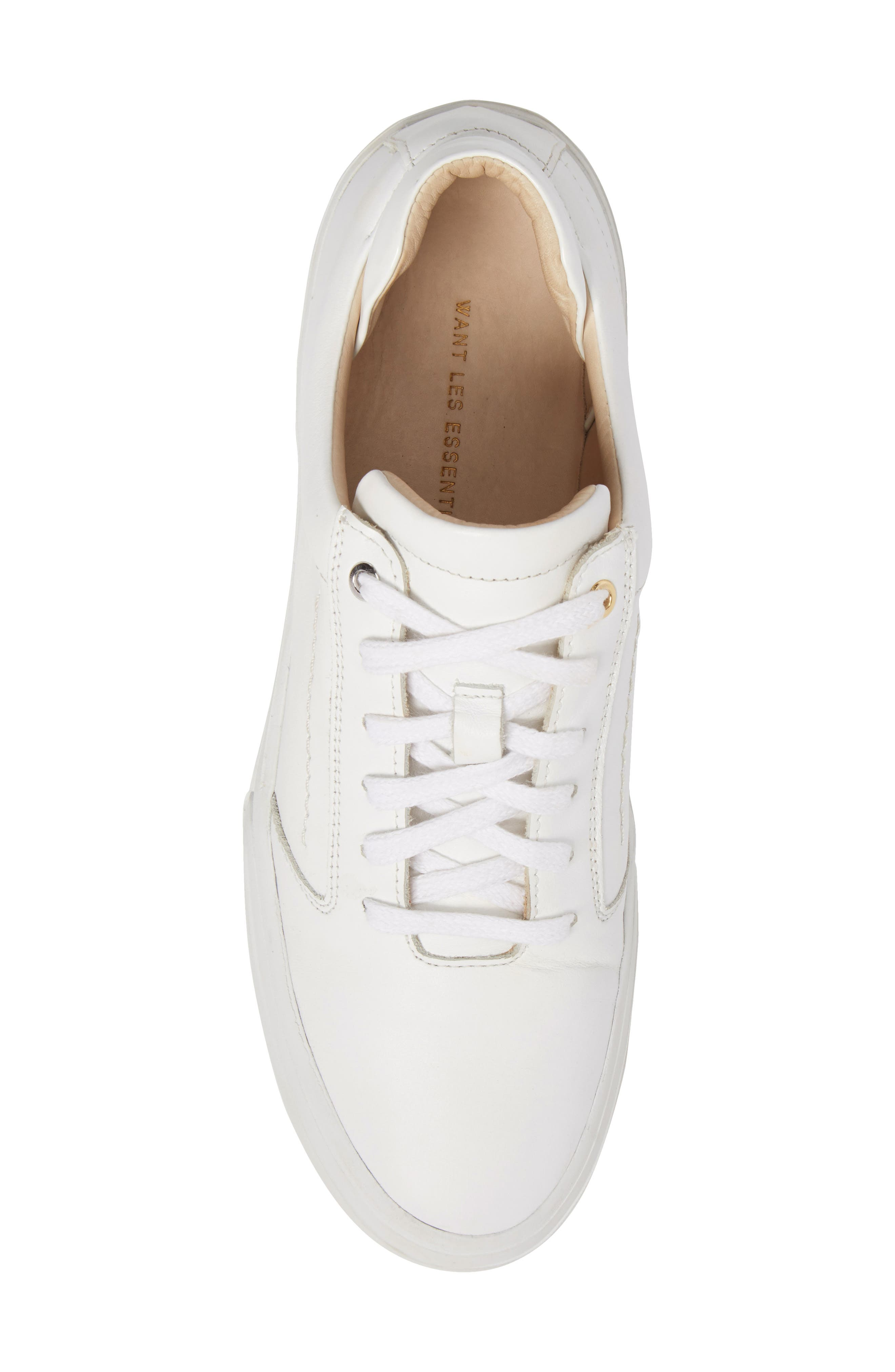 Lalibela Sneaker,                             Alternate thumbnail 5, color,                             WHITE/PATENT WHITE