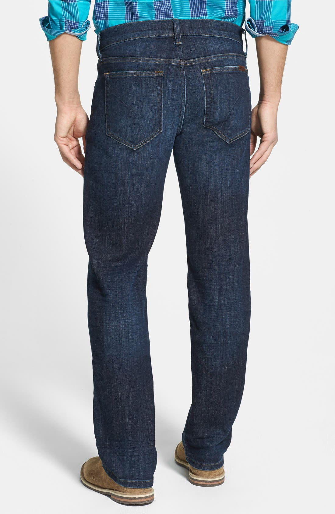 'Classic' Straight Leg Jeans,                             Alternate thumbnail 4, color,                             400