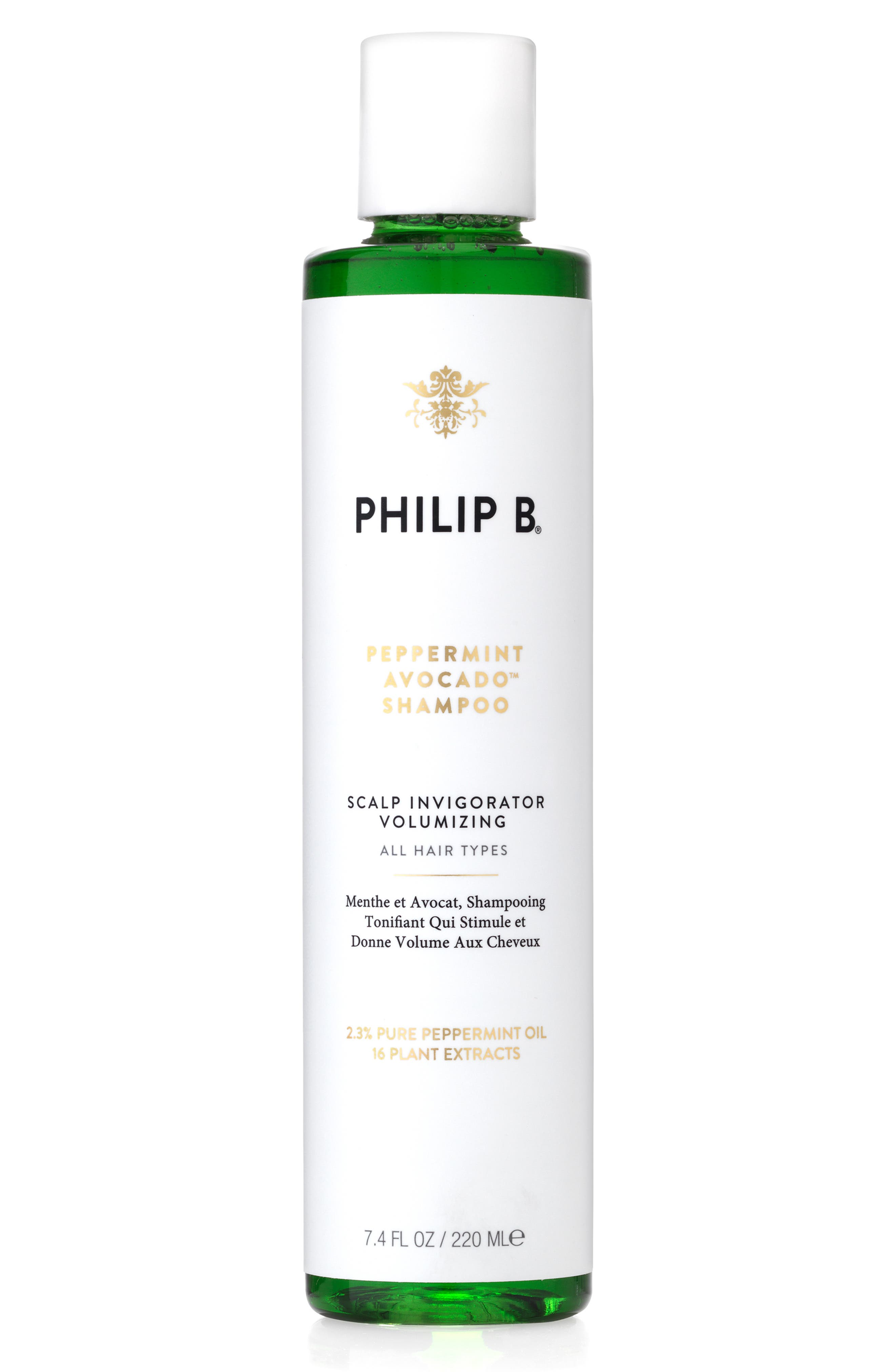 PHILIP B<SUP>®</SUP> SPACE.NK.apothecary PHILIP B<sup>®</sup> Peppermint & Avocado Volumizing & Clarifying Shampoo, Main, color, 000