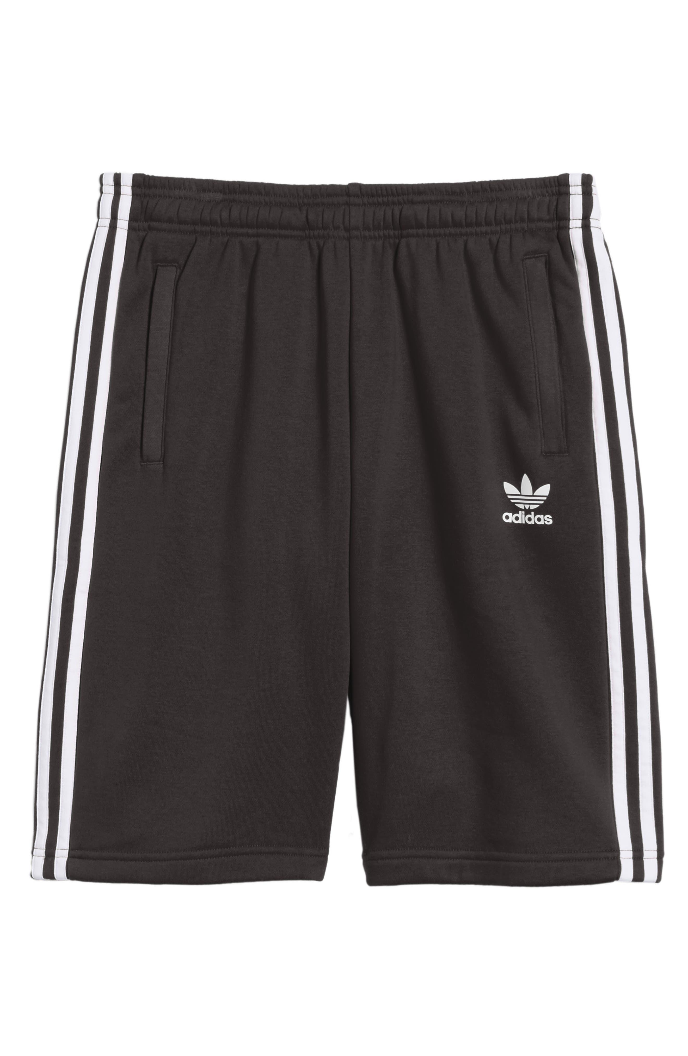 3-Stripes Shorts,                             Alternate thumbnail 5, color,                             BLACK/ WHITE