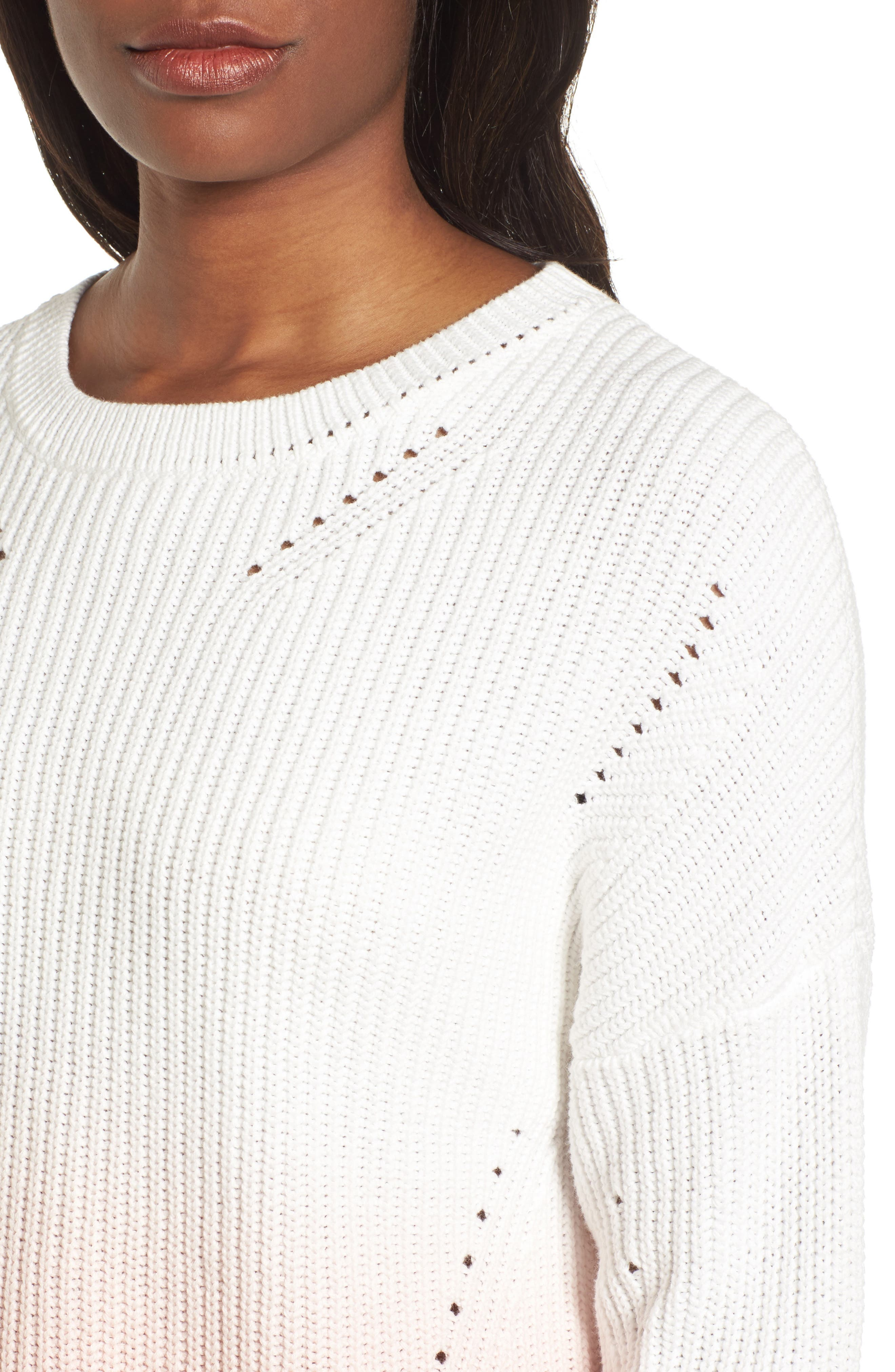 Shaker Stitch Cotton Sweater,                             Alternate thumbnail 8, color,