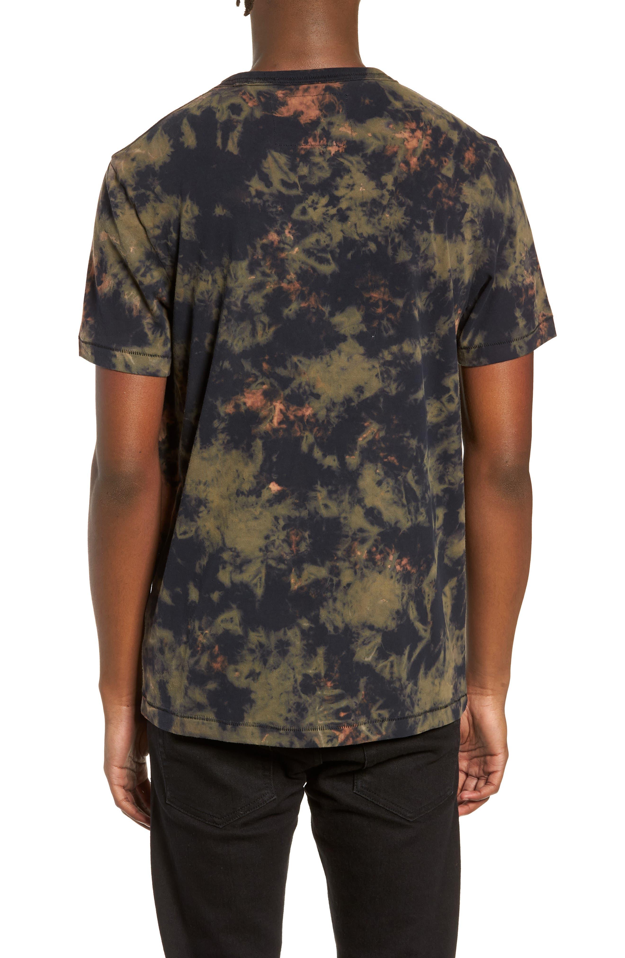 Crumple Dyed Logo T-Shirt,                             Alternate thumbnail 2, color,                             MILITANT GREEN TYE DYE