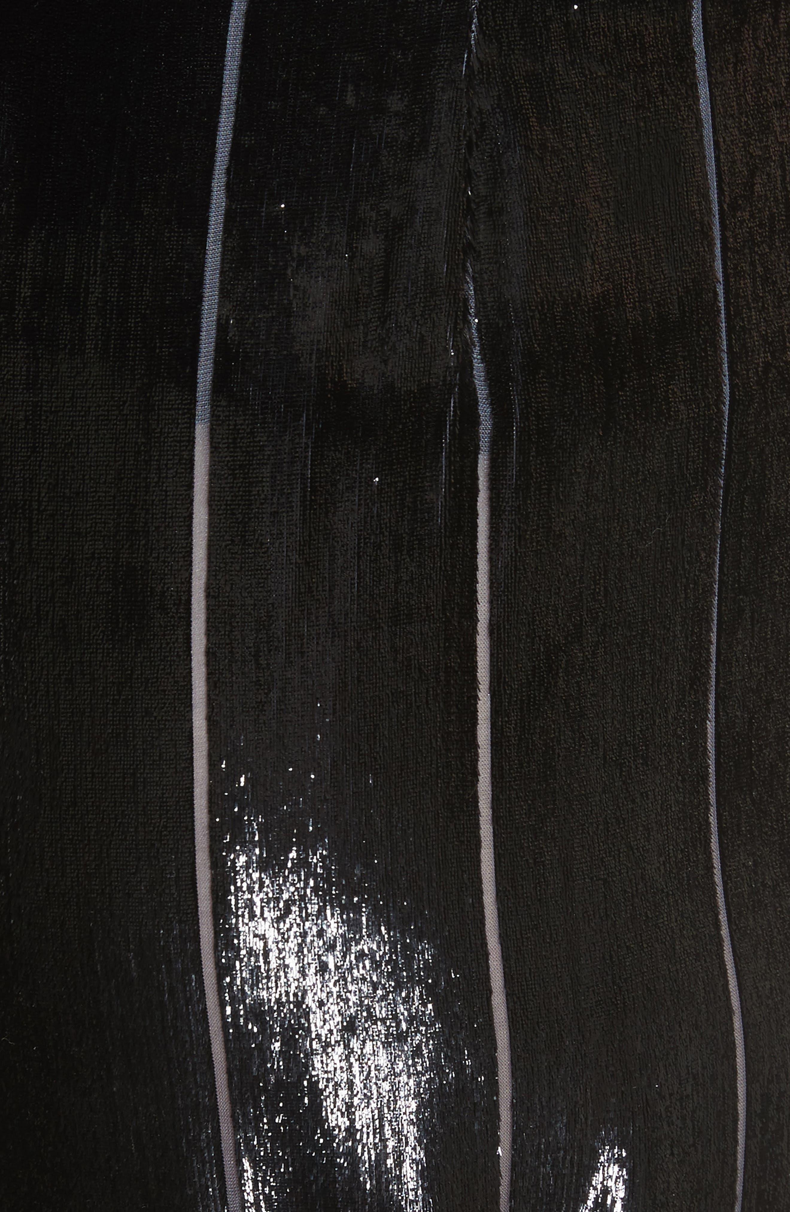Metallic Silk Blend Culottes,                             Alternate thumbnail 5, color,                             001