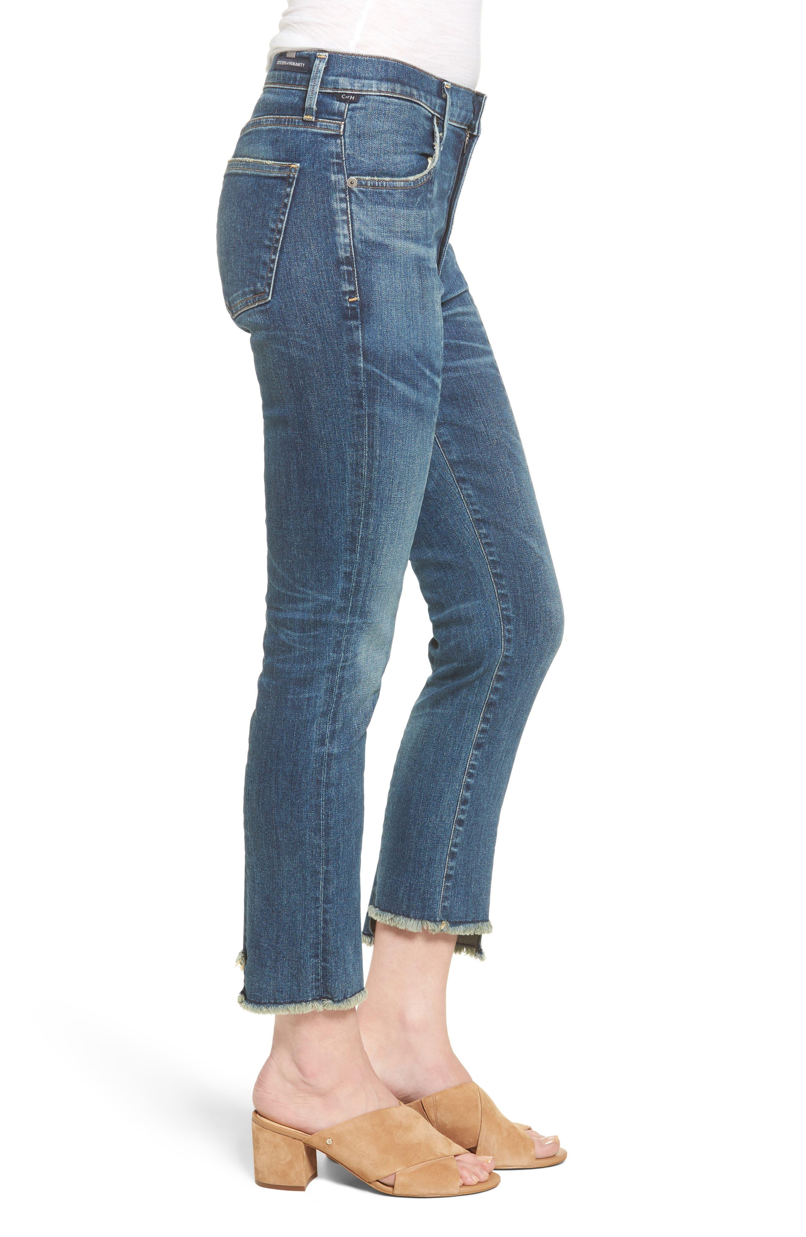 Amari Step Hem Ankle Jeans,                             Alternate thumbnail 3, color,                             429