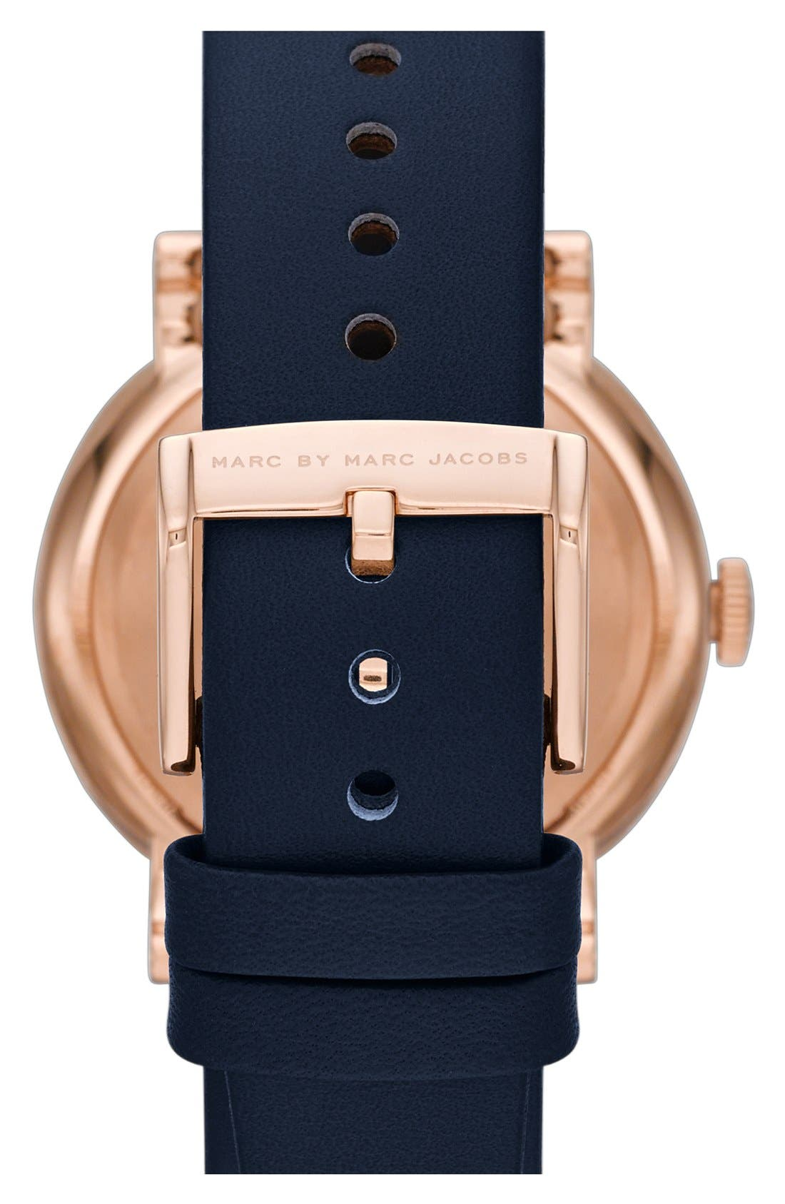 'Baker' Leather Strap Watch, 37mm,                             Alternate thumbnail 56, color,
