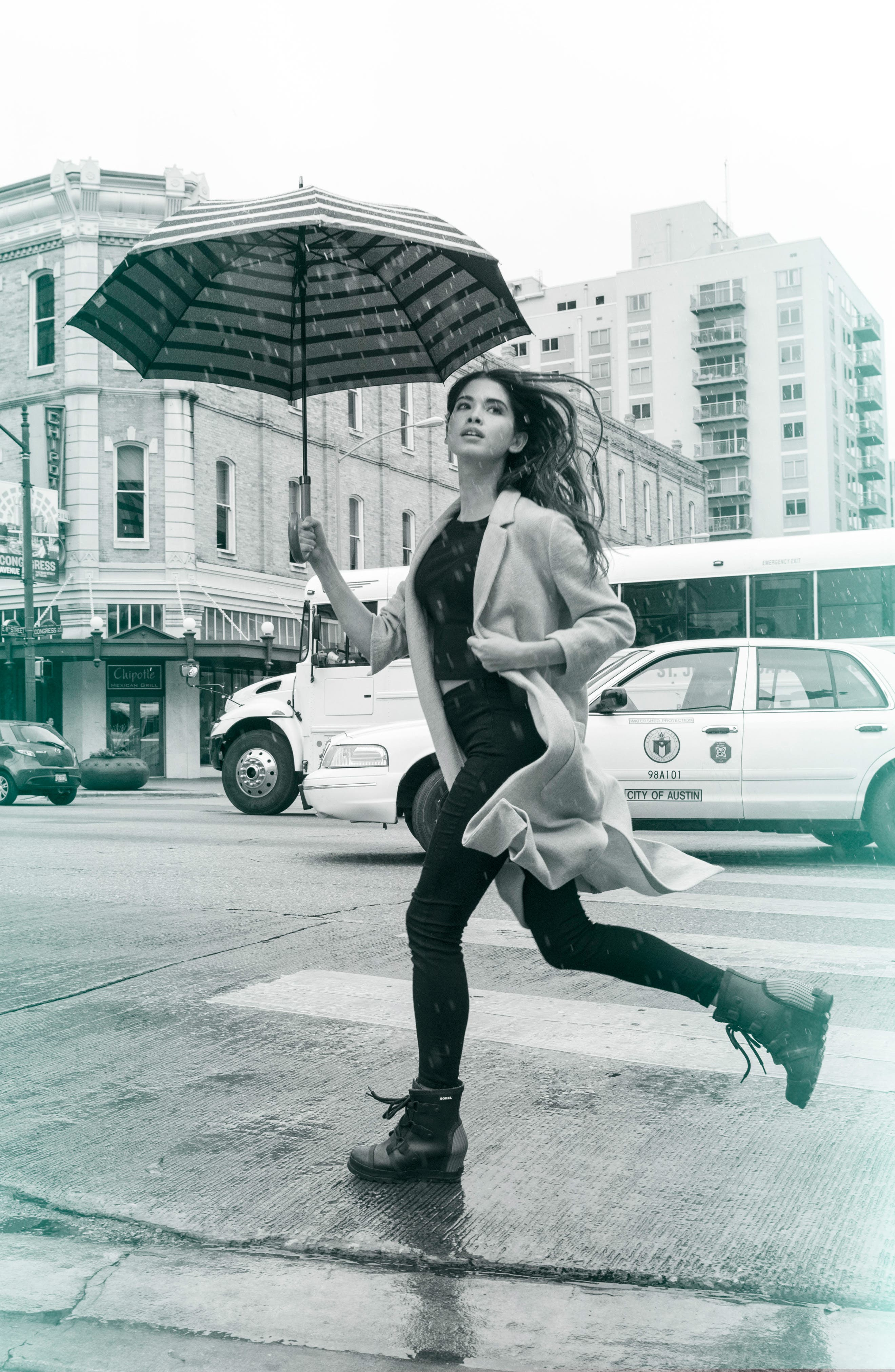 Joan Wedge Rain Boot,                             Alternate thumbnail 14, color,