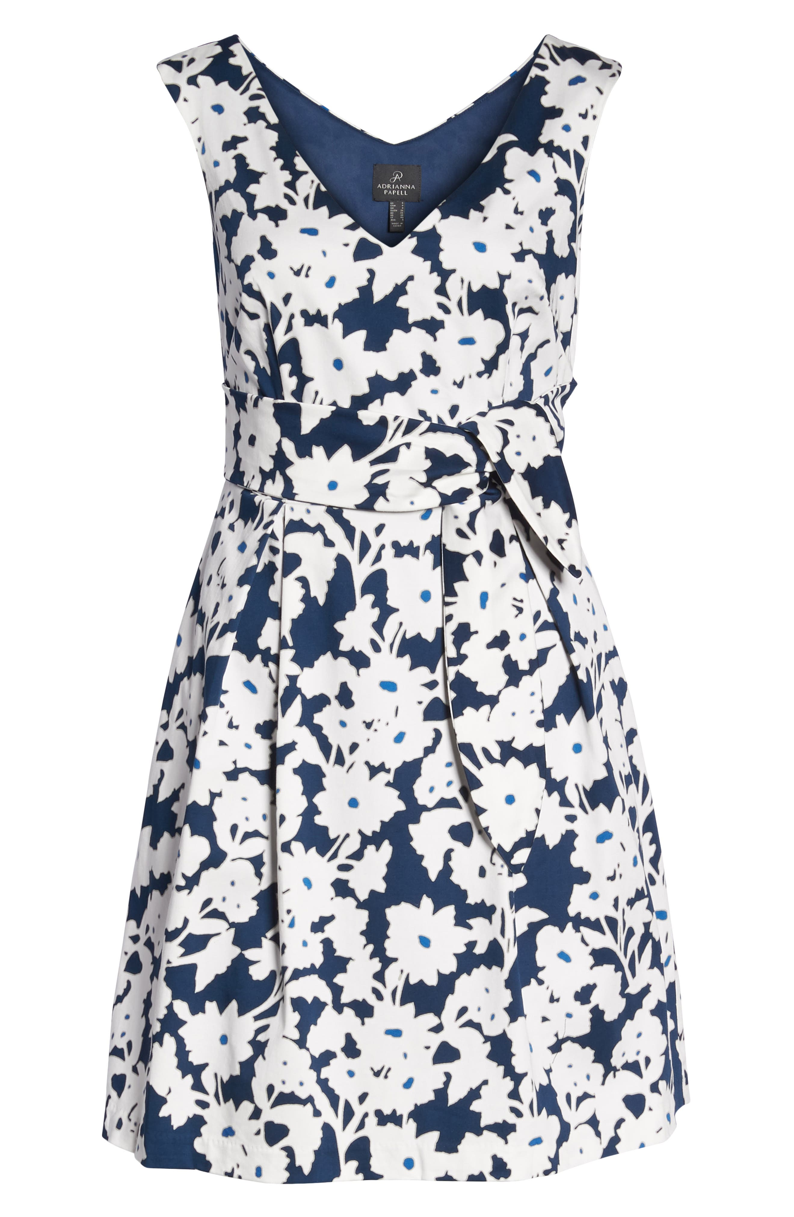 Daisy Field Fit & Flare Dress,                             Alternate thumbnail 7, color,                             480